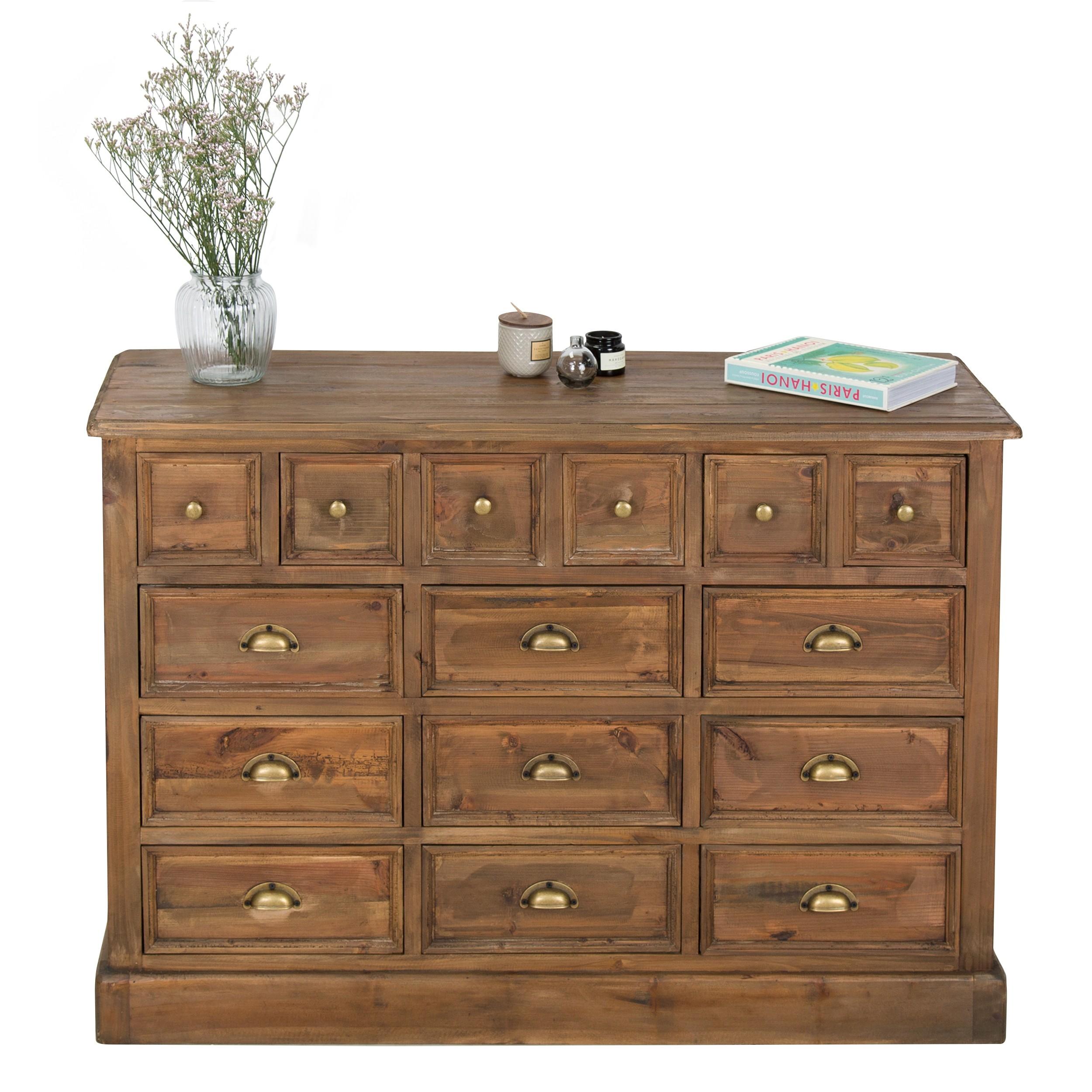 acheter commode en bois multi tiroirs