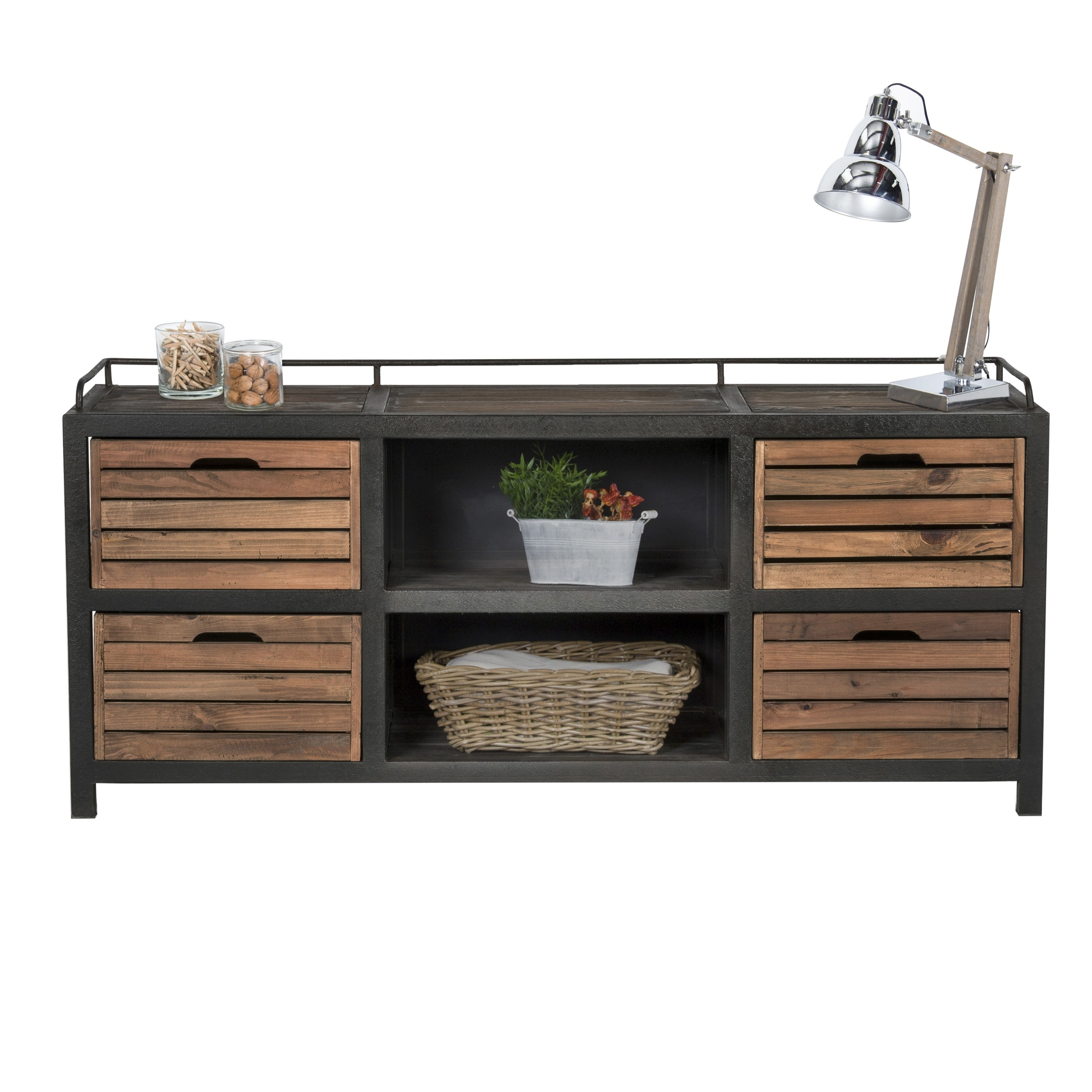 acheter buffet bois et metal rectangulaire