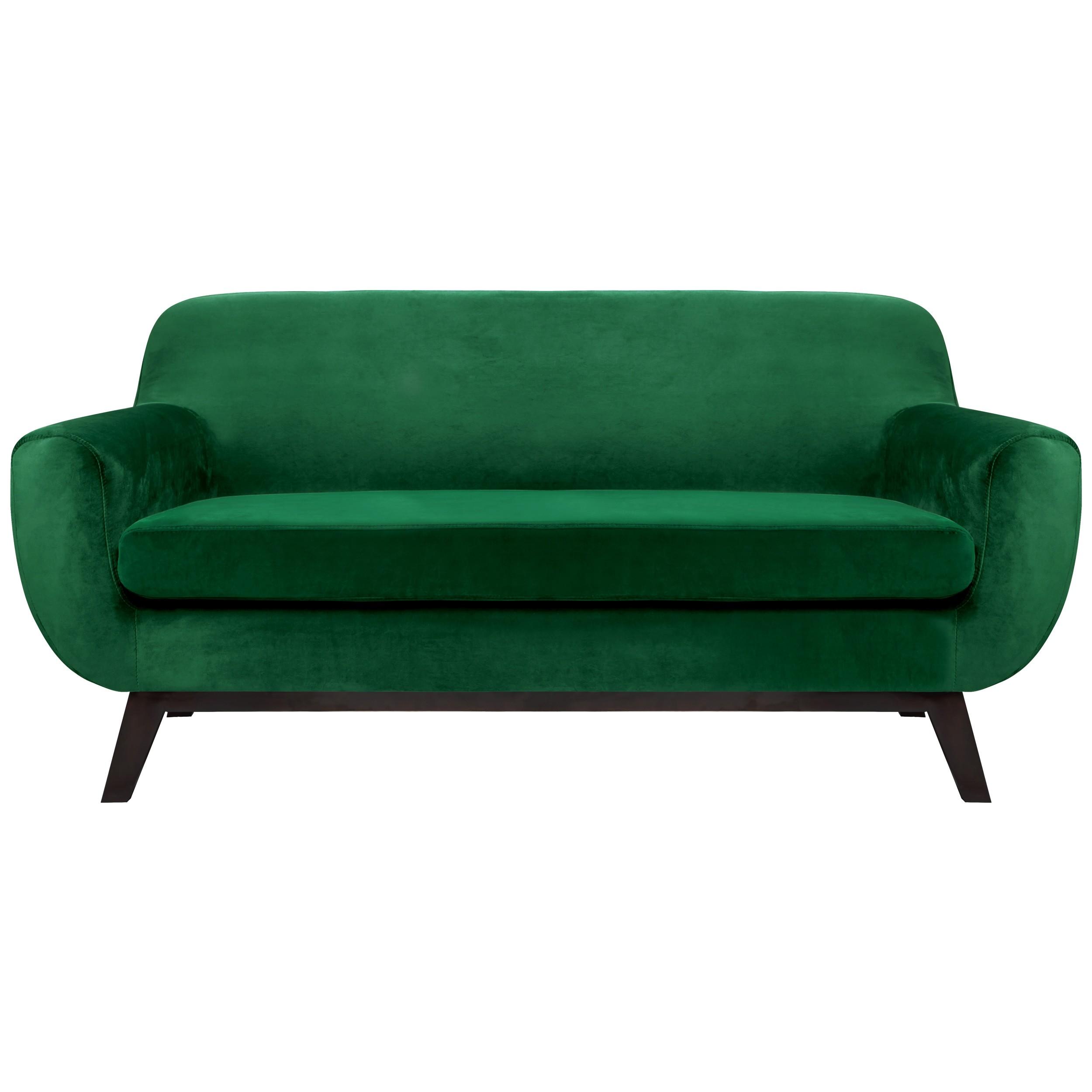 canap copenhague 2 places en velours vert choisissez. Black Bedroom Furniture Sets. Home Design Ideas