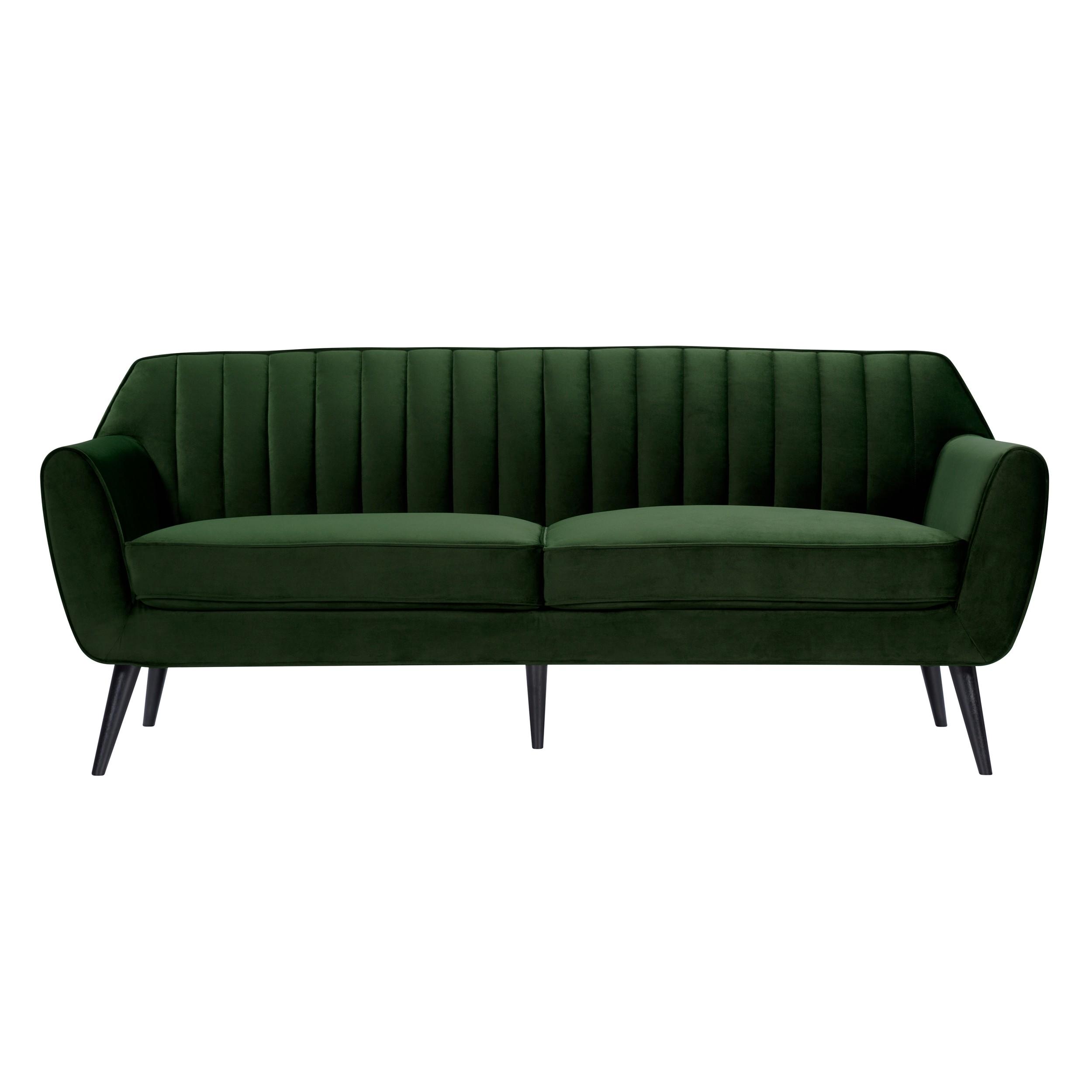 acheter canape 3 places en velours vert fonce