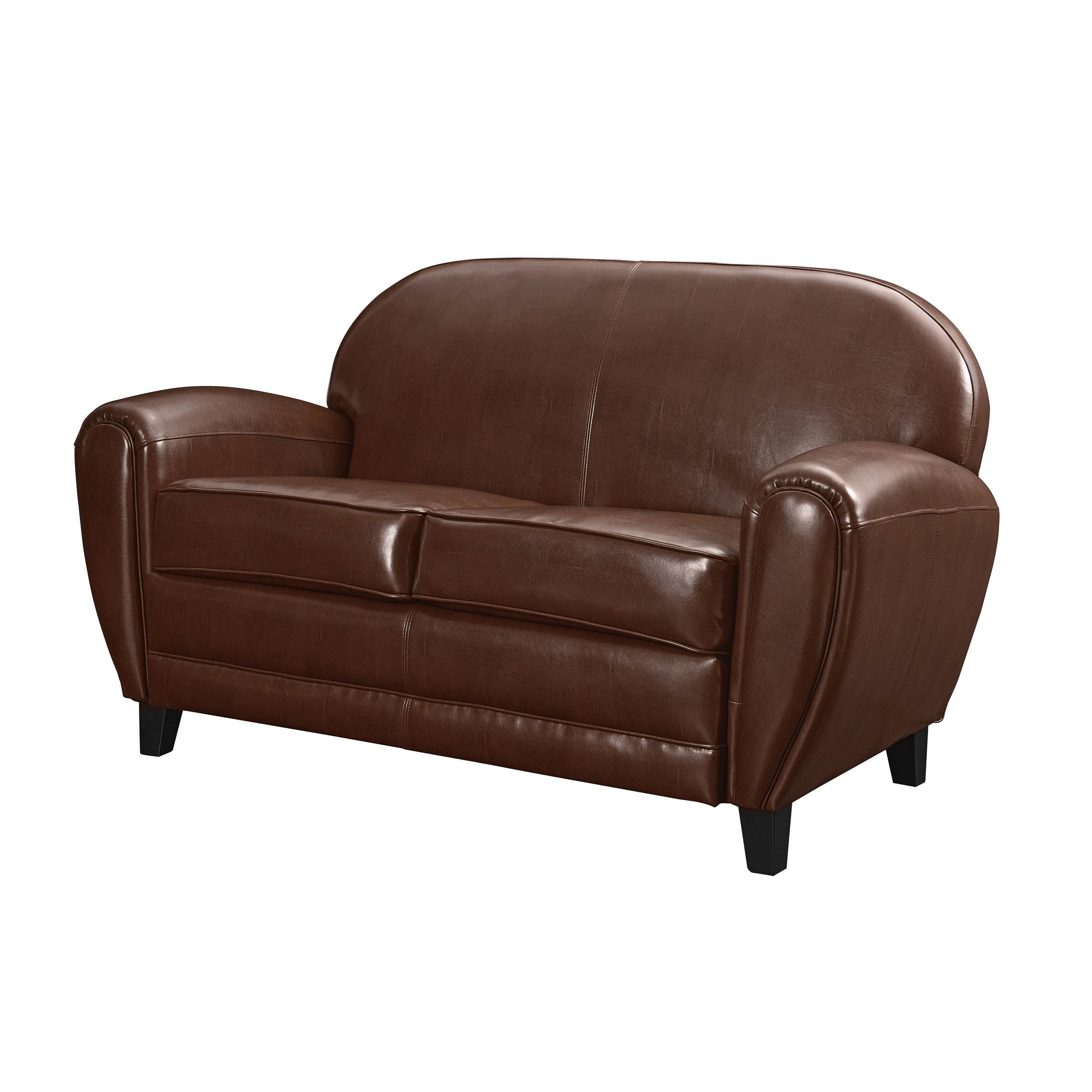 canap club 2 places cuir marron commandez nos canap s. Black Bedroom Furniture Sets. Home Design Ideas