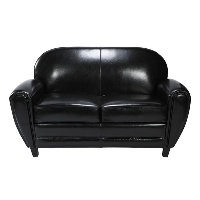 Canapé Club cuir noir : découvrez nos canapés club noirs - RDV déco
