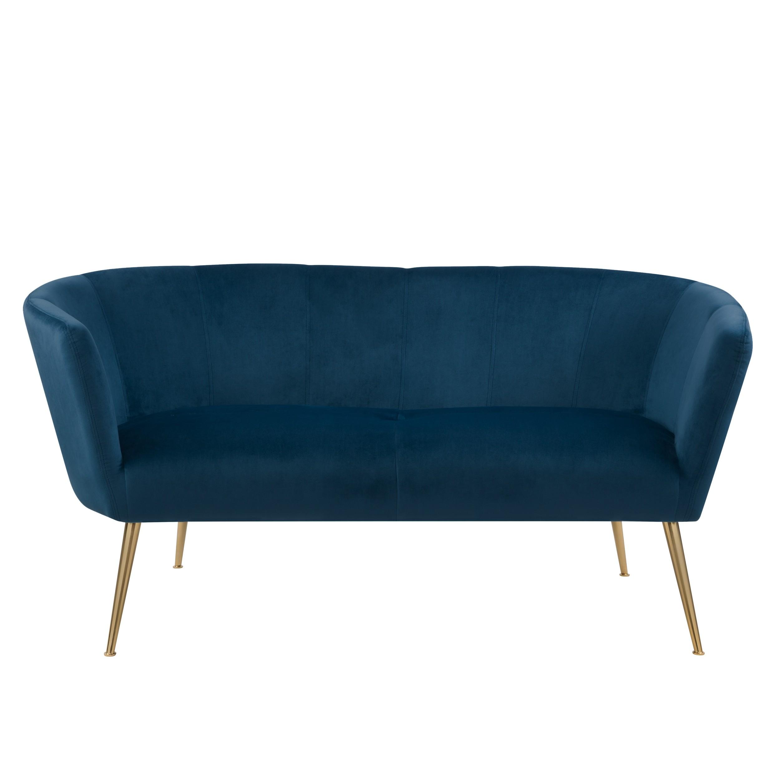 acheter canape en velours bleu confort