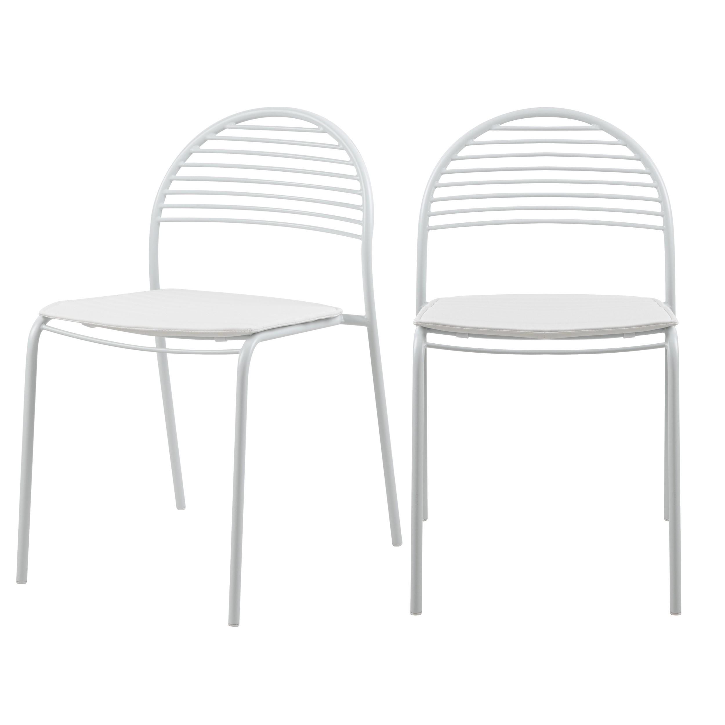 acheter chaise blanche en metal