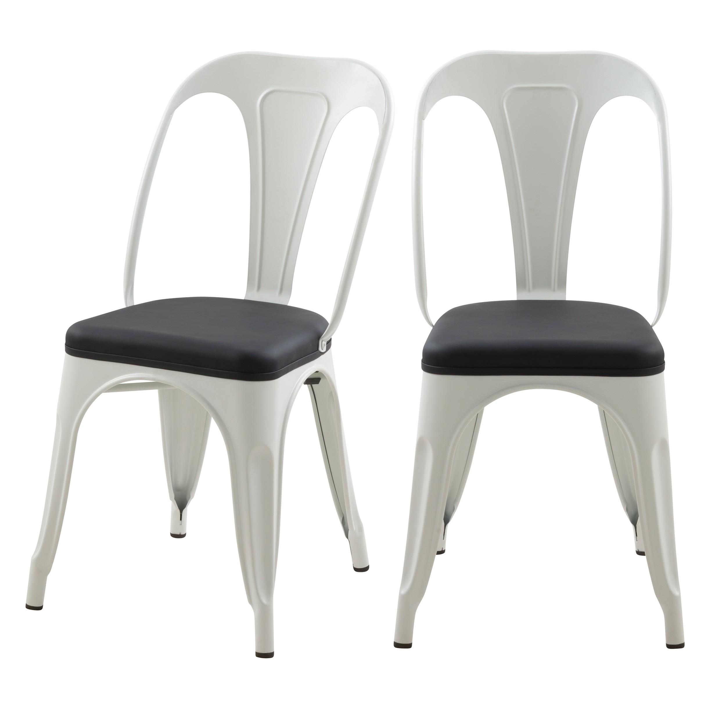 acheter chaise blanche industrielle