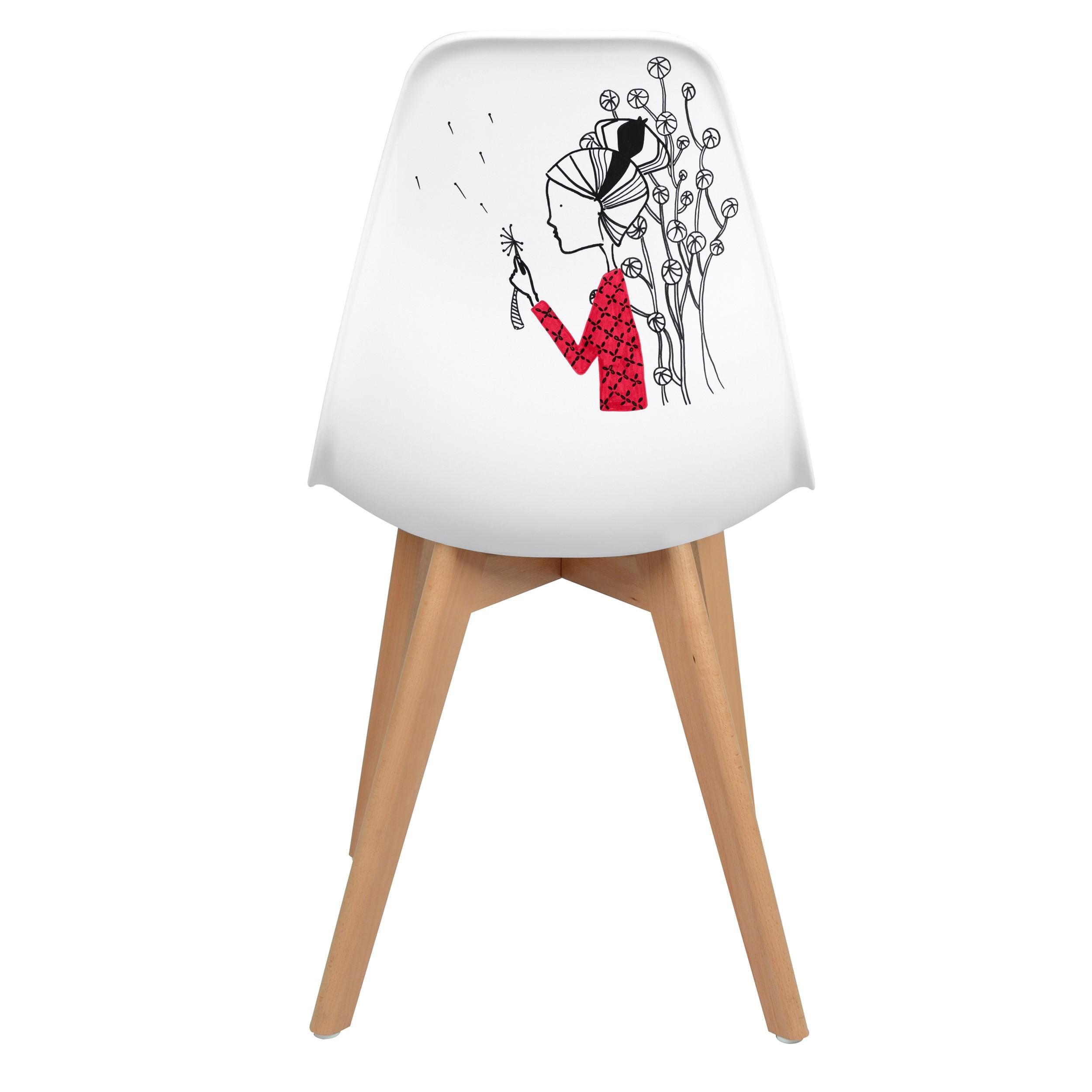 acheter chaise d artiste blanche scandinave