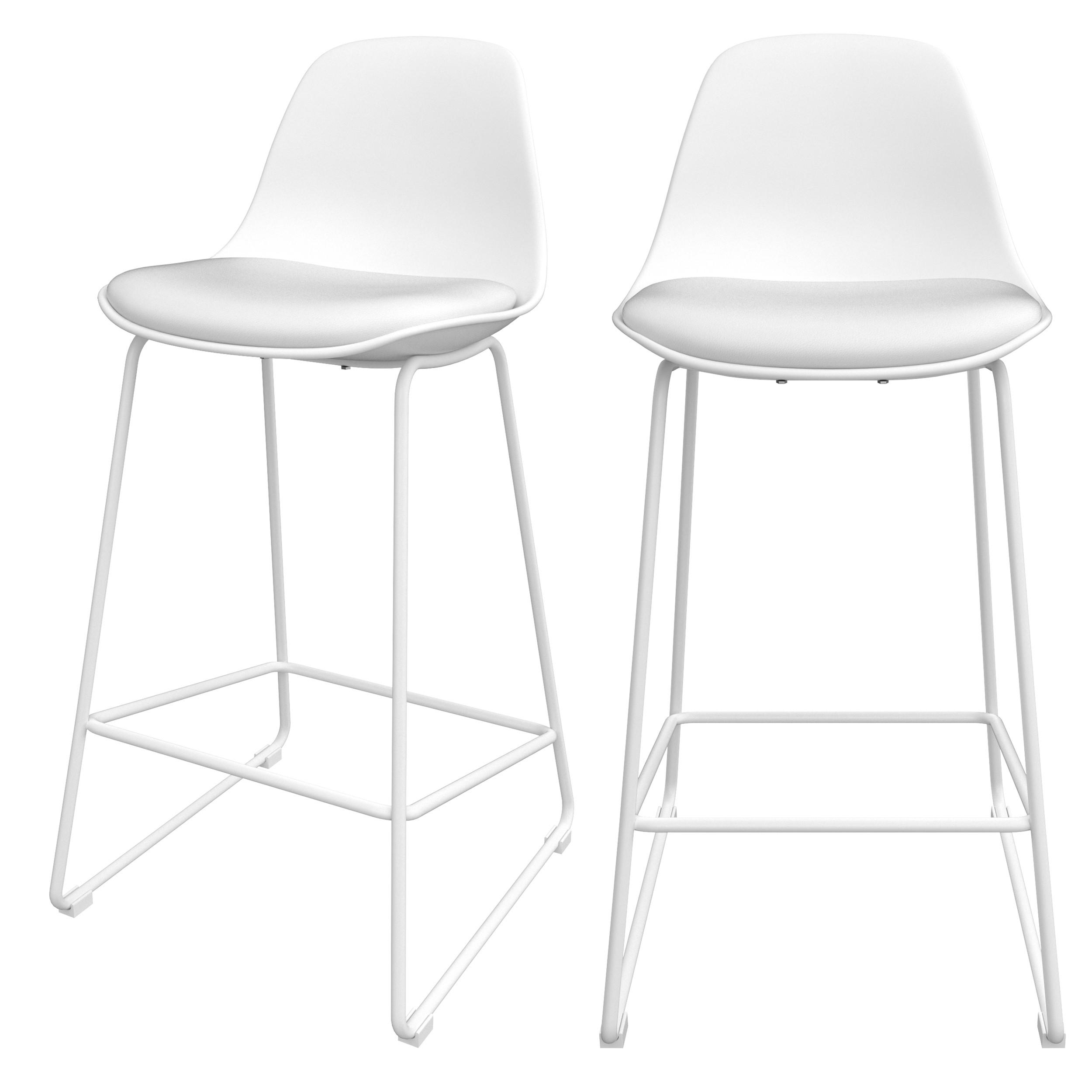 acheter chaise de bar blanche duo design