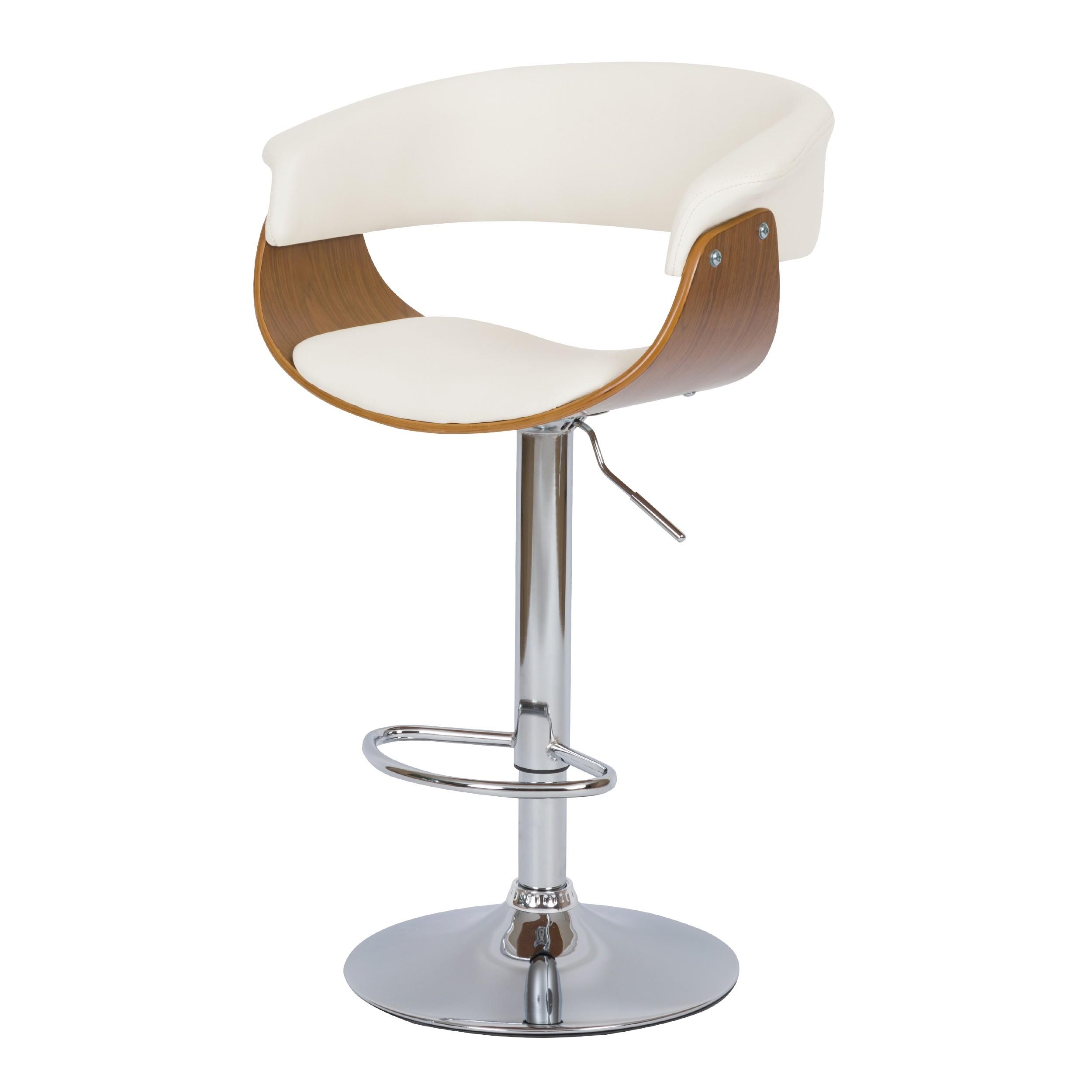 acheter chaise de bar blanche vintage simili