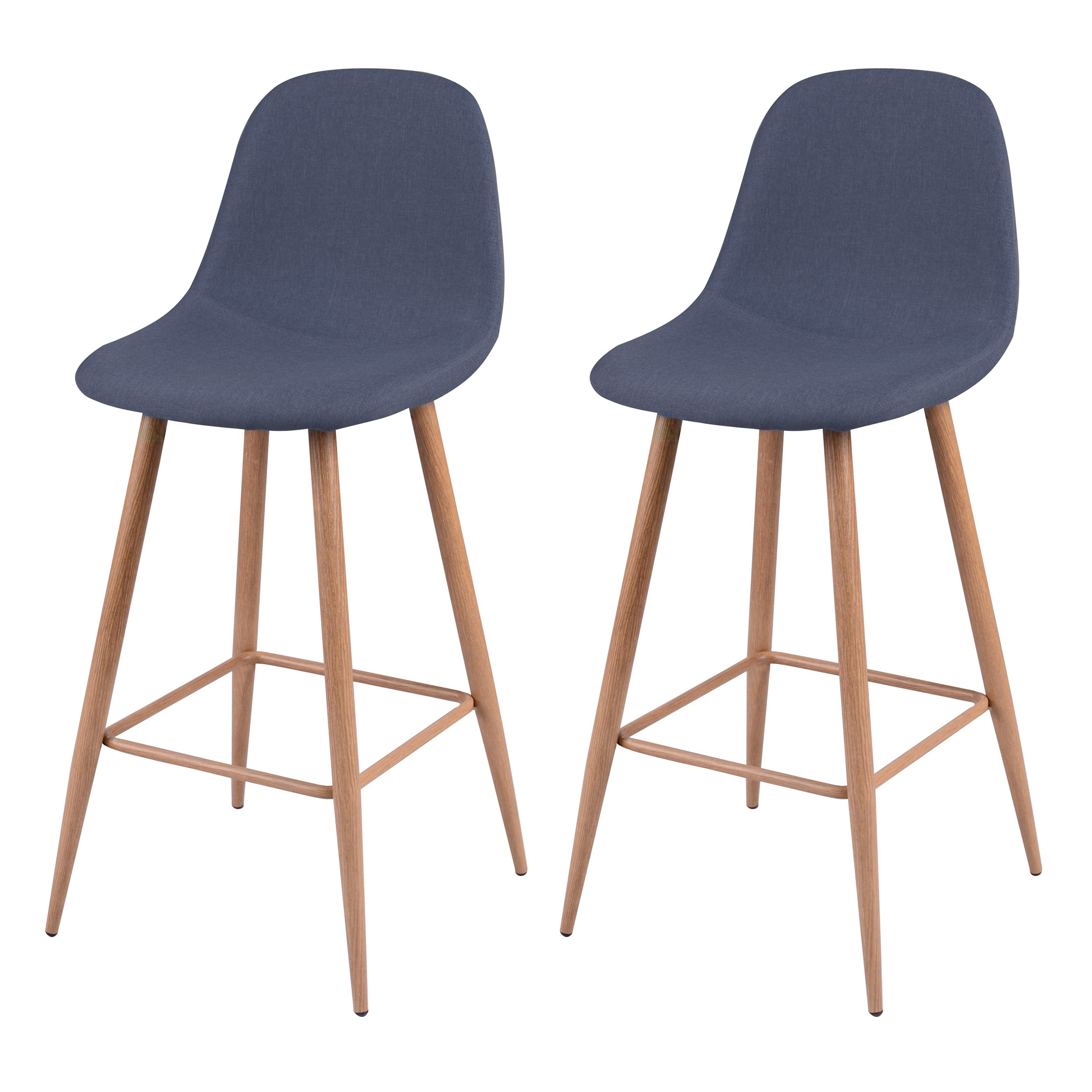 tabouret de bar fredrik bleu gris lot de 2 d couvrez. Black Bedroom Furniture Sets. Home Design Ideas