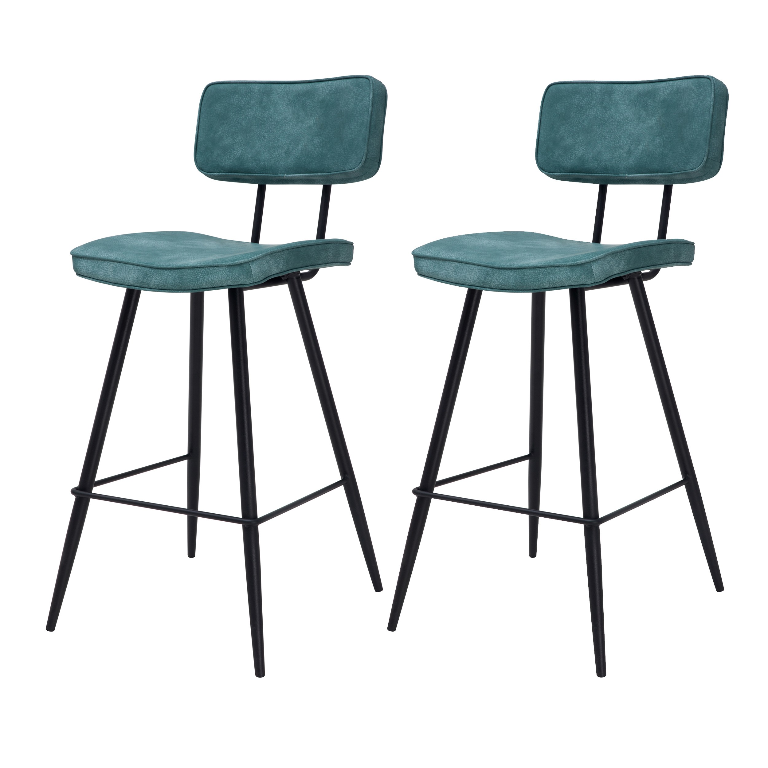 Chaise De Bar Texas Bleue Lot De 2