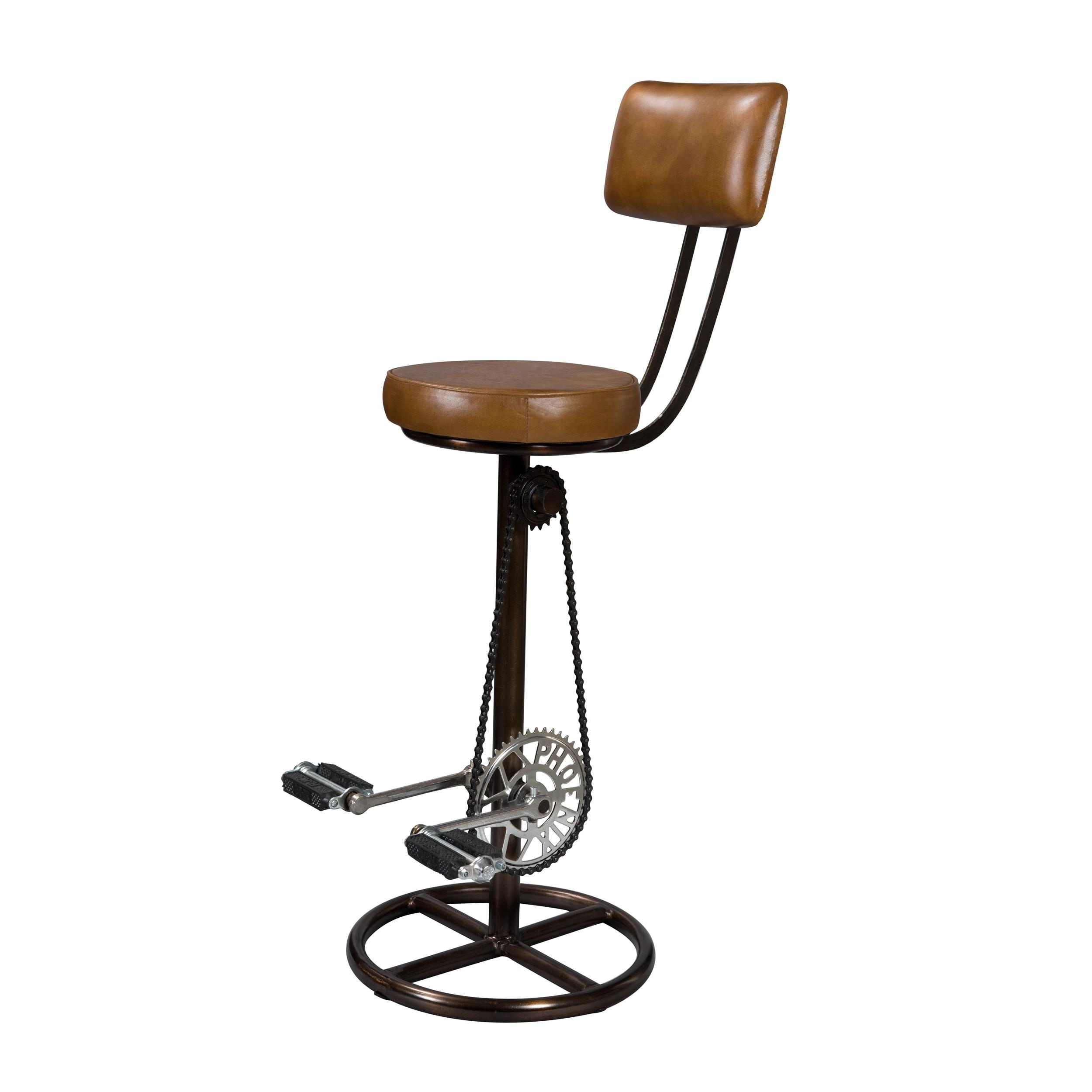 acheter chaise de bar en cuir marron