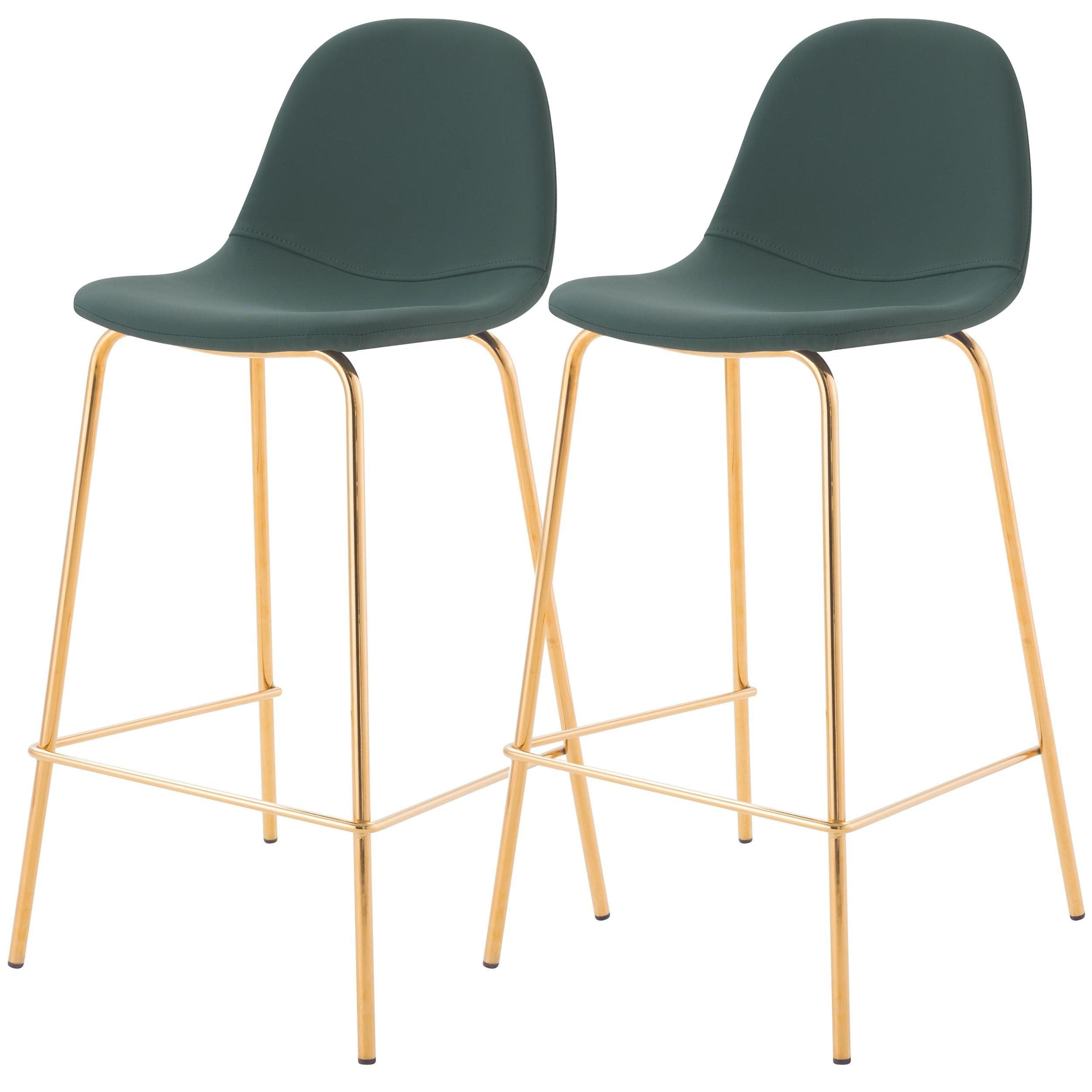 acheter chaise de bar en cuir synthetique verte