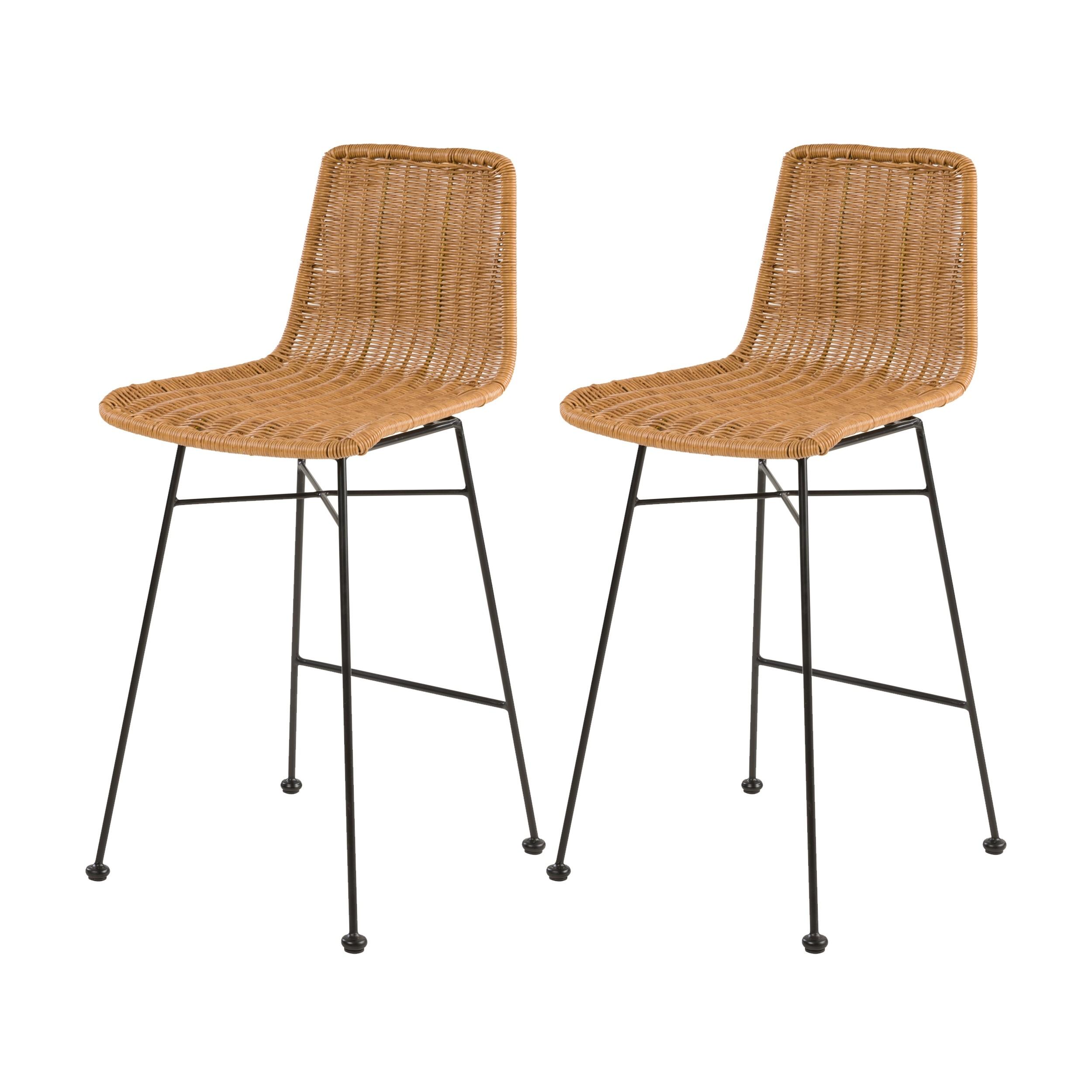 acheter chaise de bar en-matiere-naturelle-tresse
