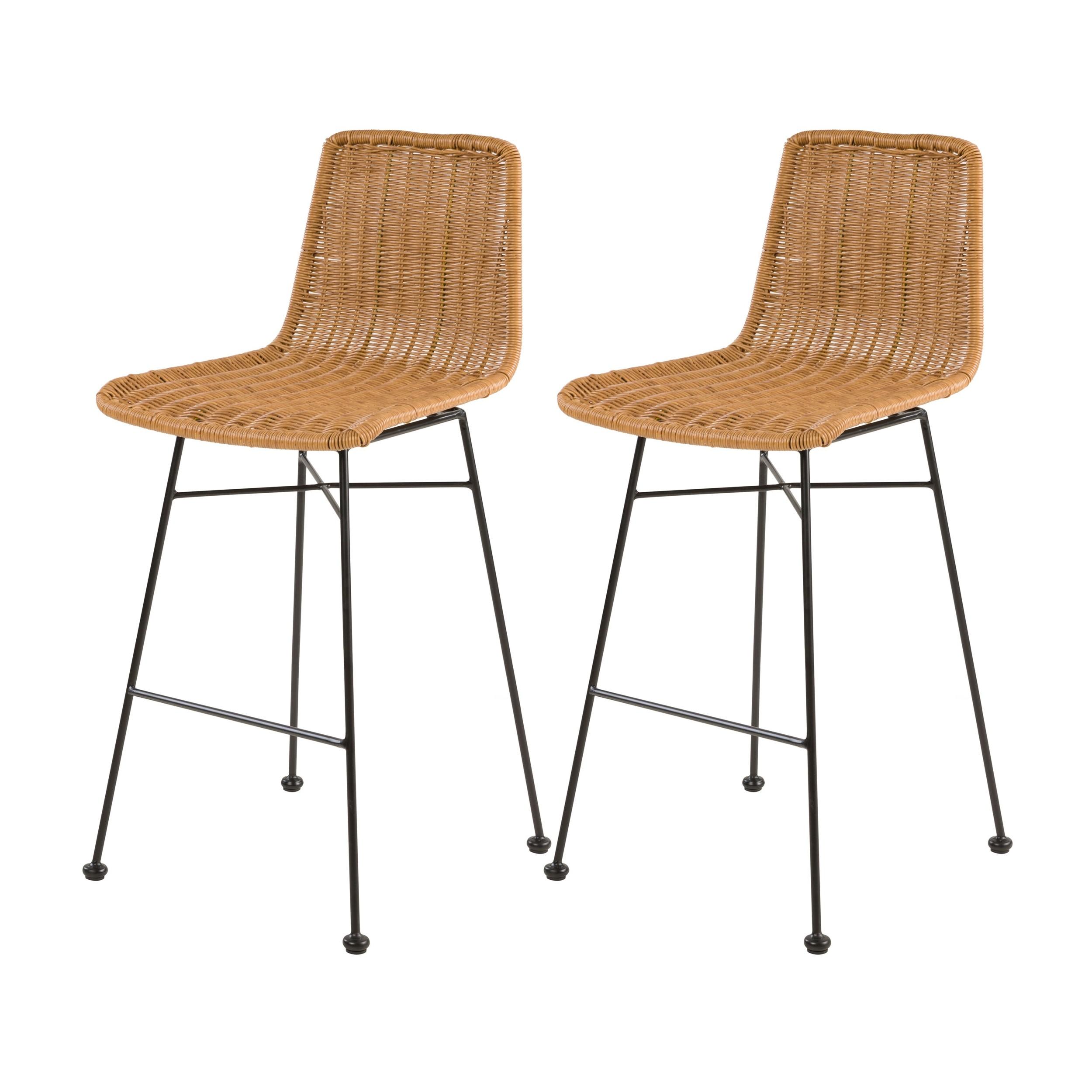 acheter chaise de bar en matiere tressee naturelle