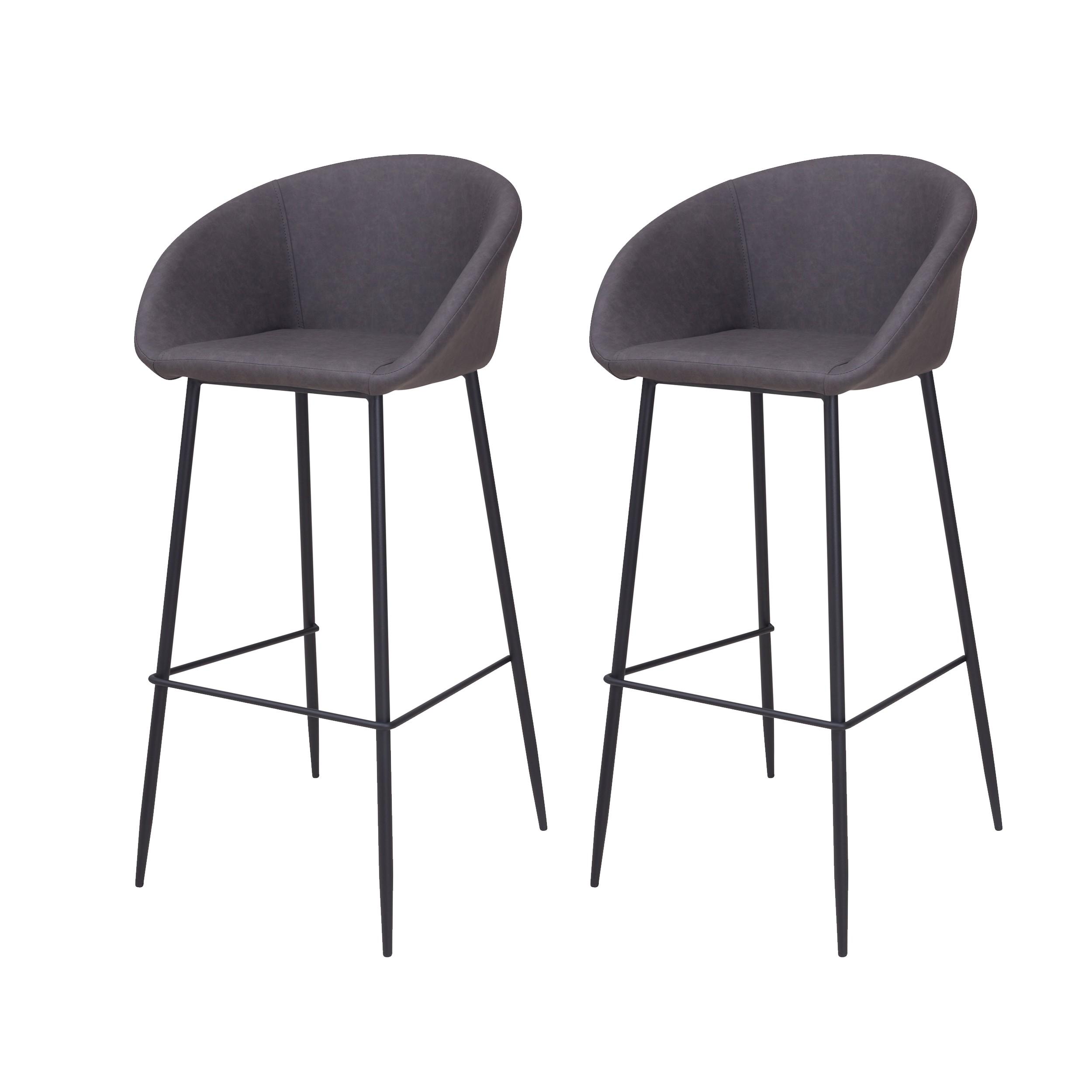 acheter chaise de bar gris fonce
