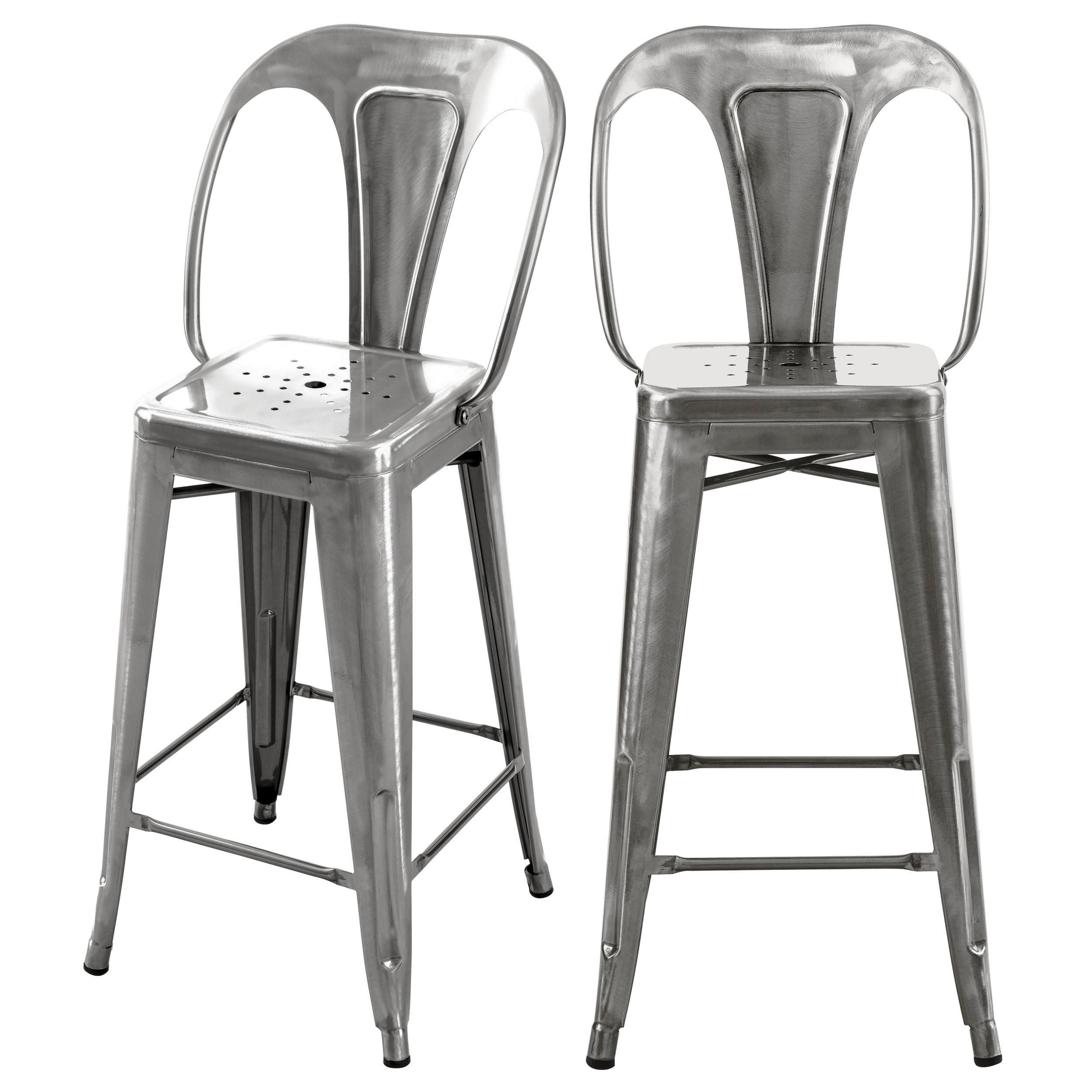 acheter chaise de bar gris industrielle