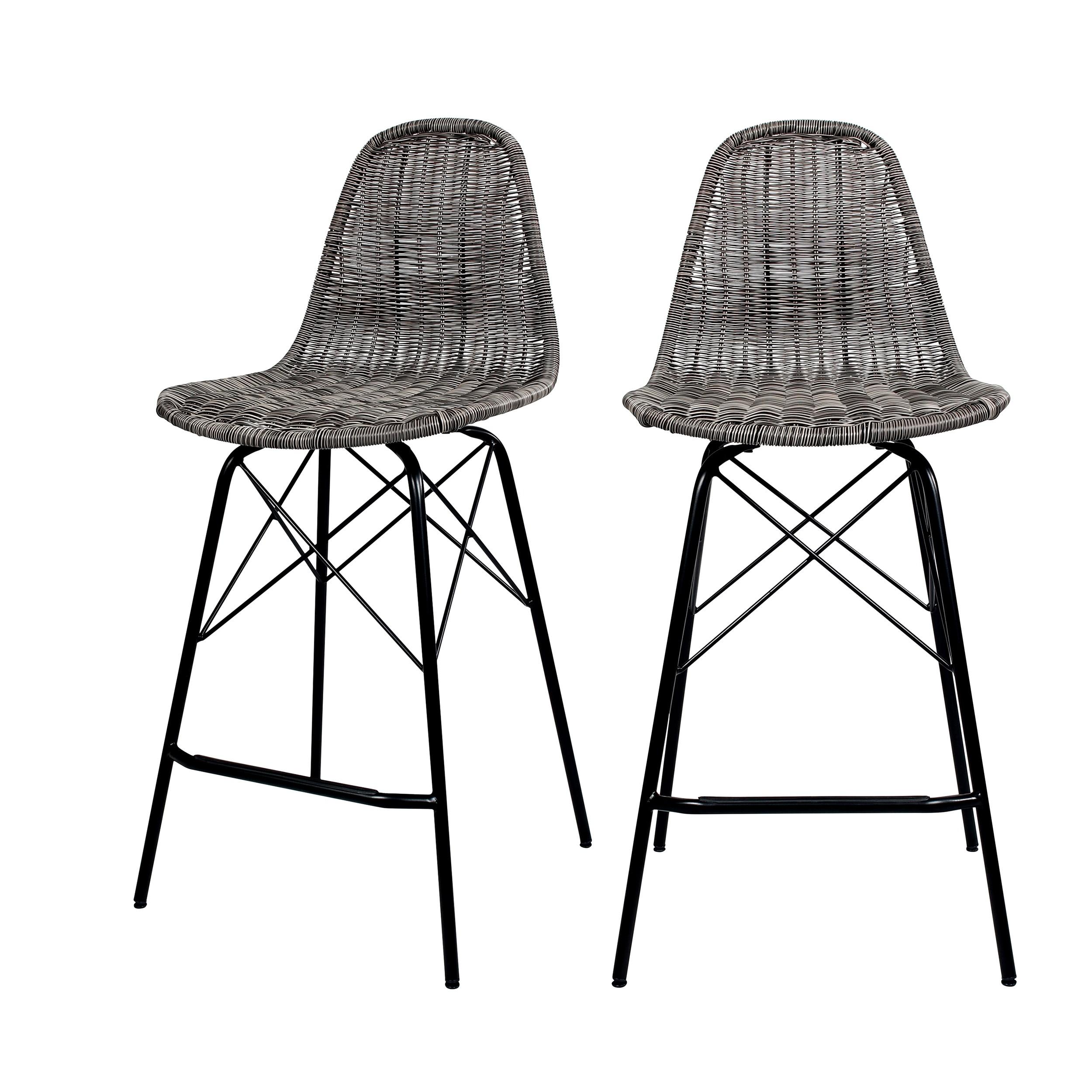 acheter chaise de bar grise resine