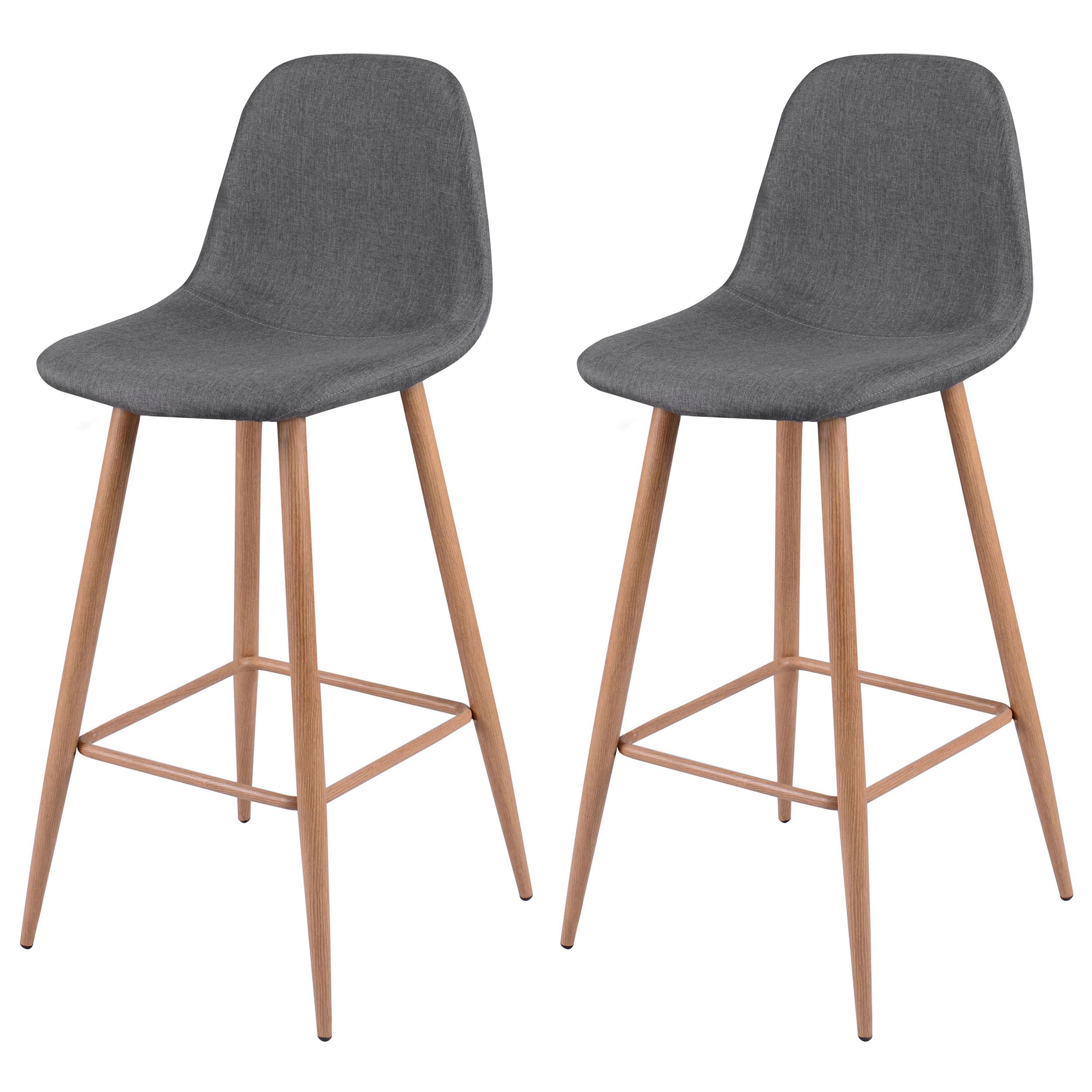 chaise de bar tissu gris