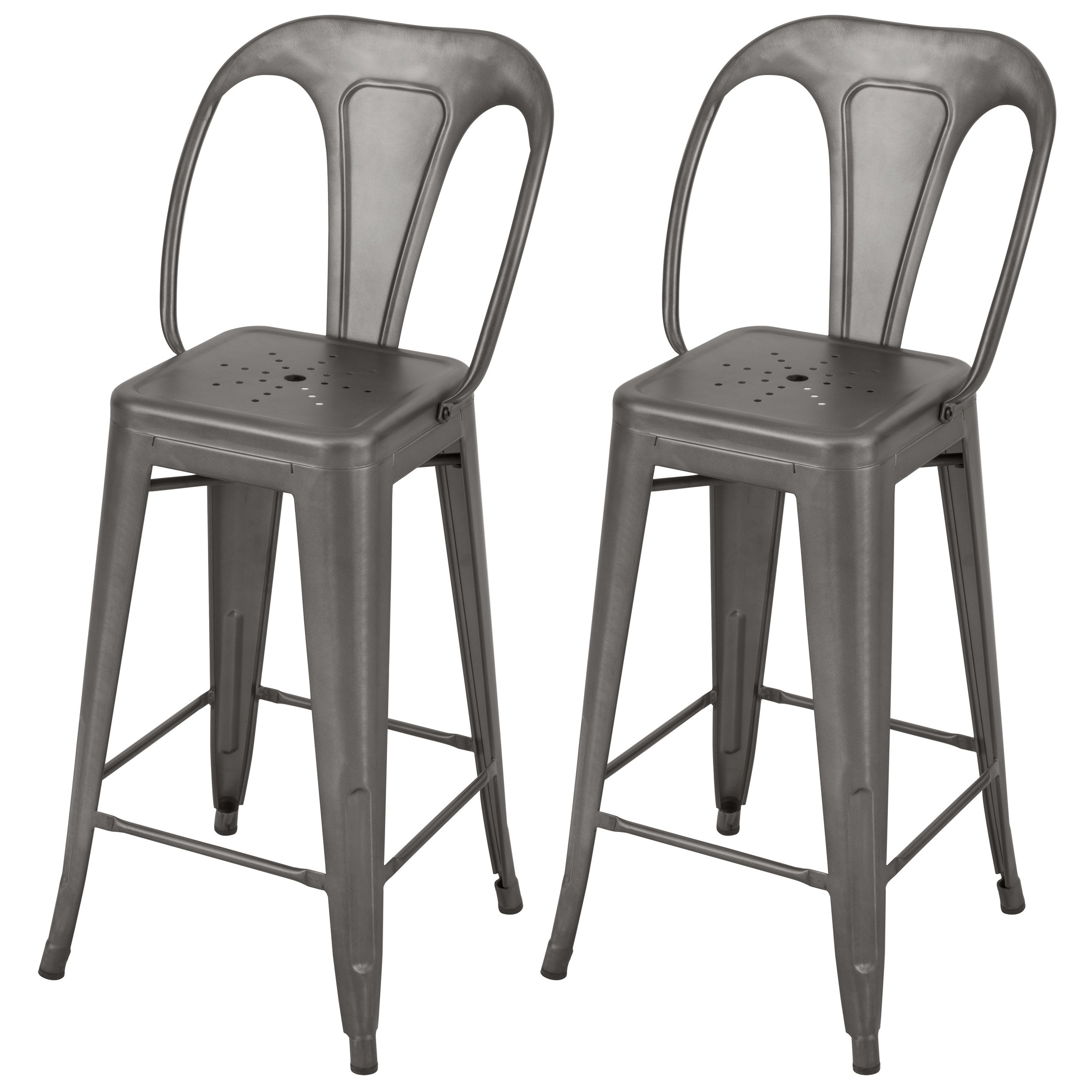 acheter chaise de bar industrielle dossier