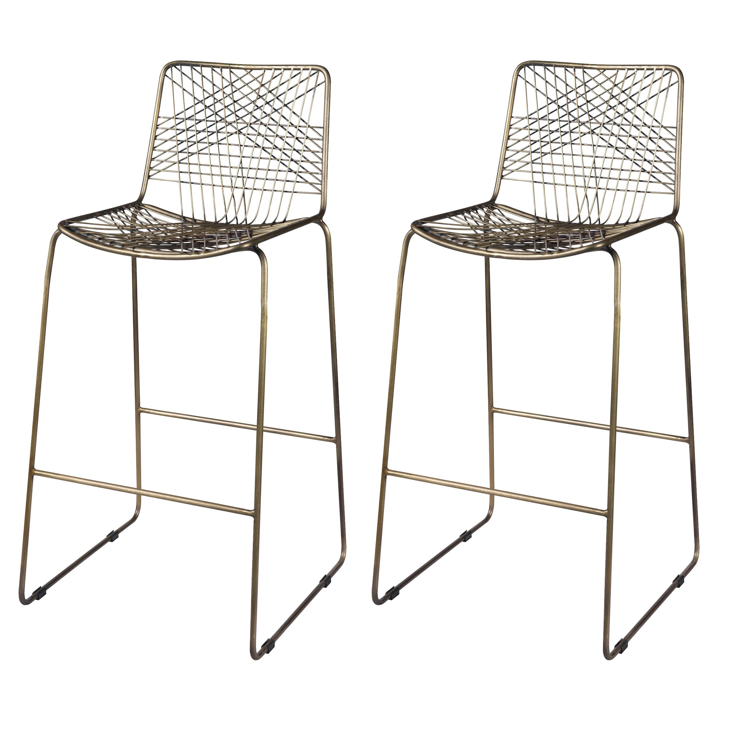 acheter chaise de bar lot de 2 metal