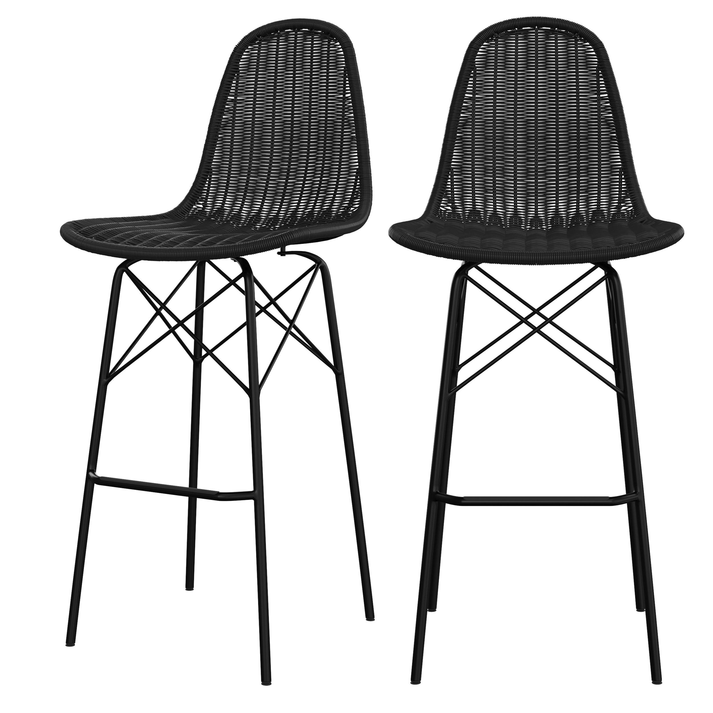 acheter chaise de bar lot de deux interieur exterieur