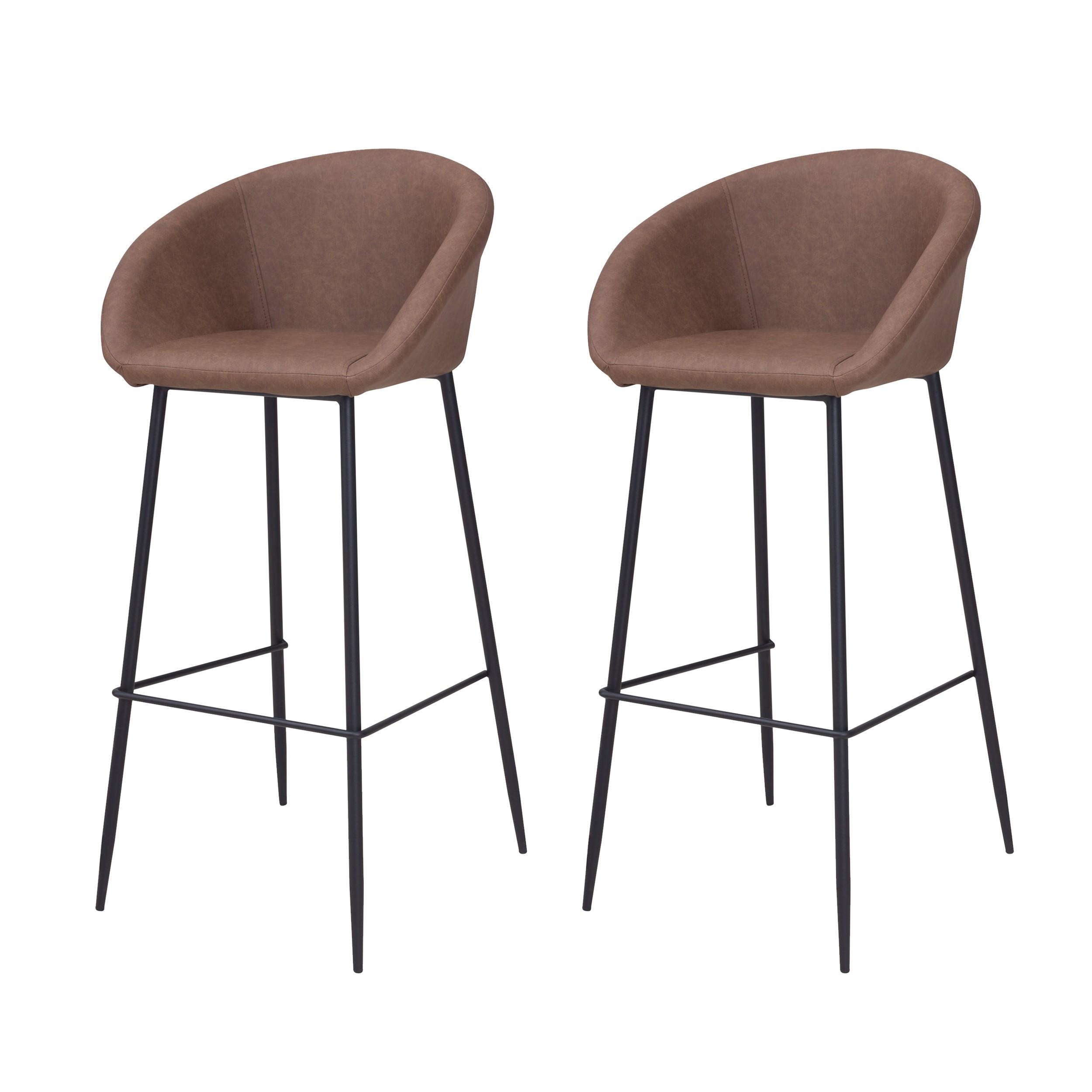 acheter chaise de bar marron chocolat