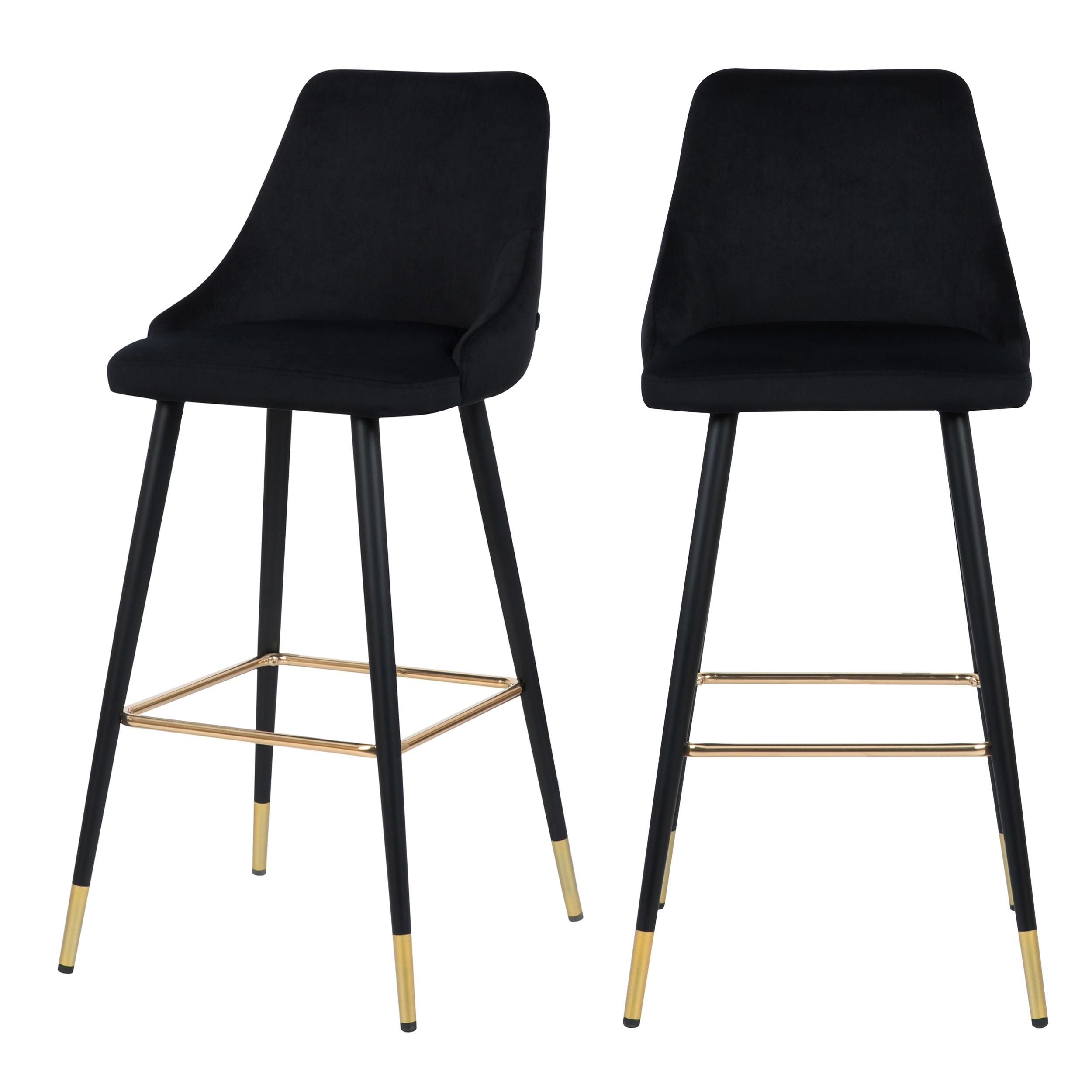 acheter chaise de bar design velours