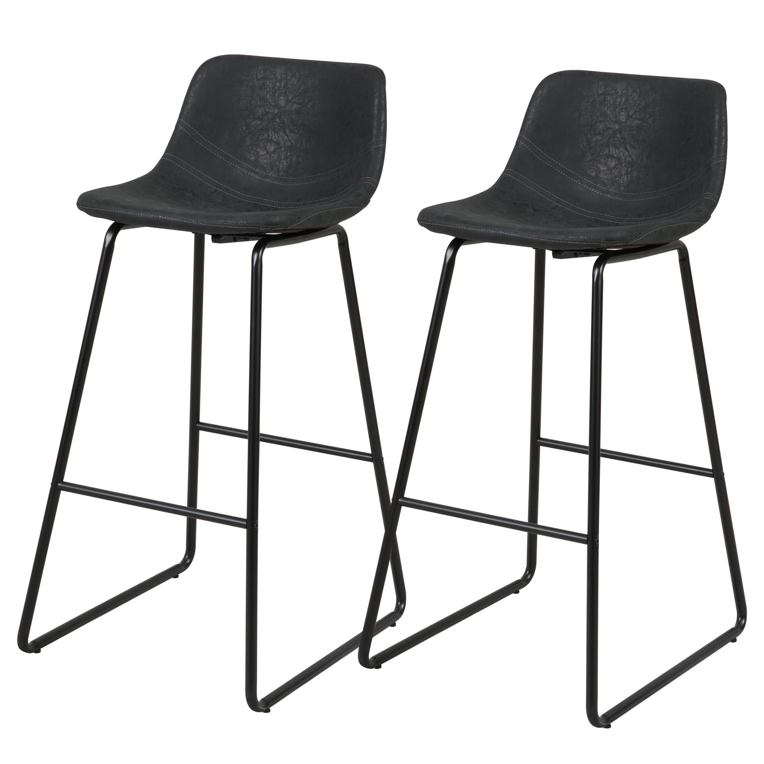 chaise de bar noir