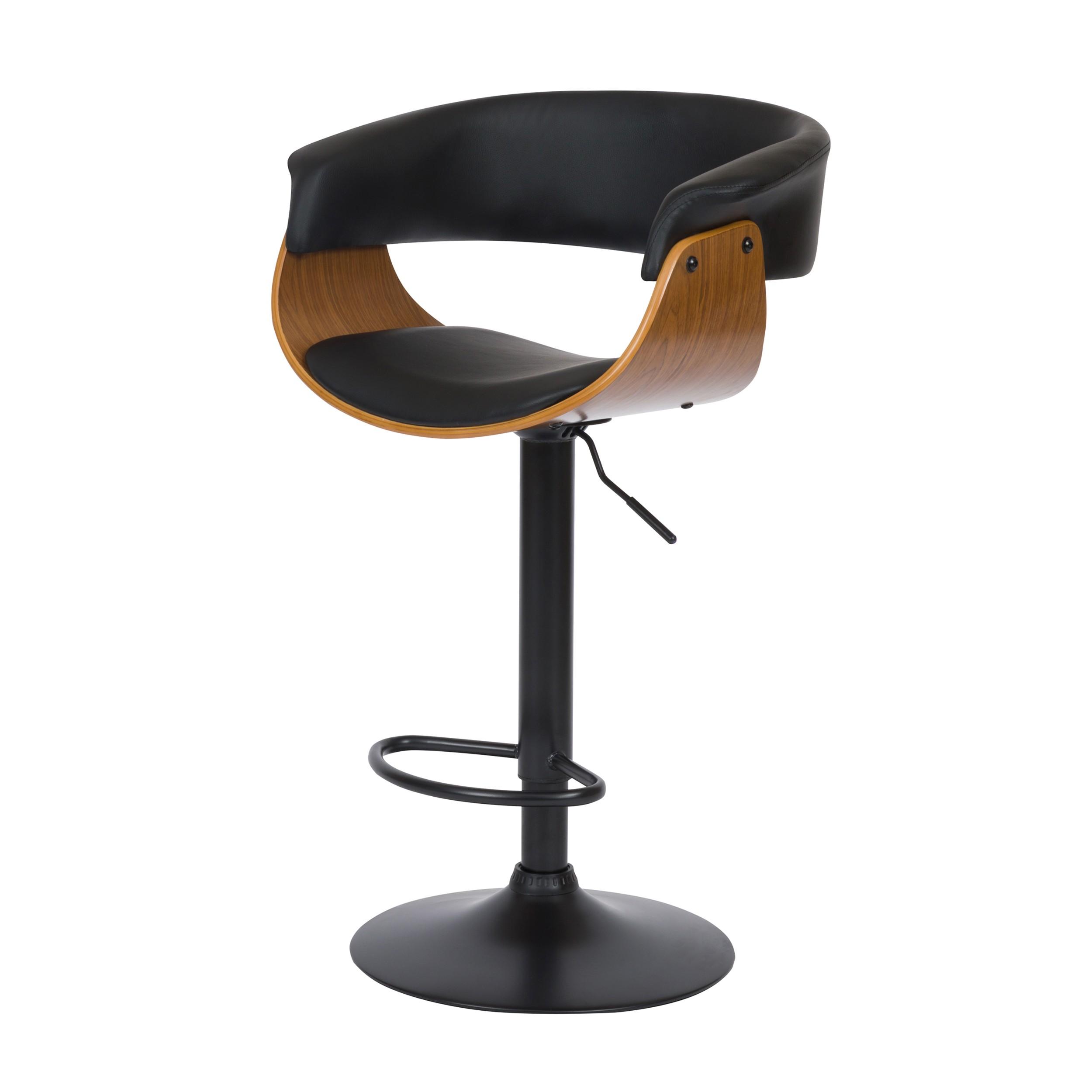 acheter chaise de bar noire reglable