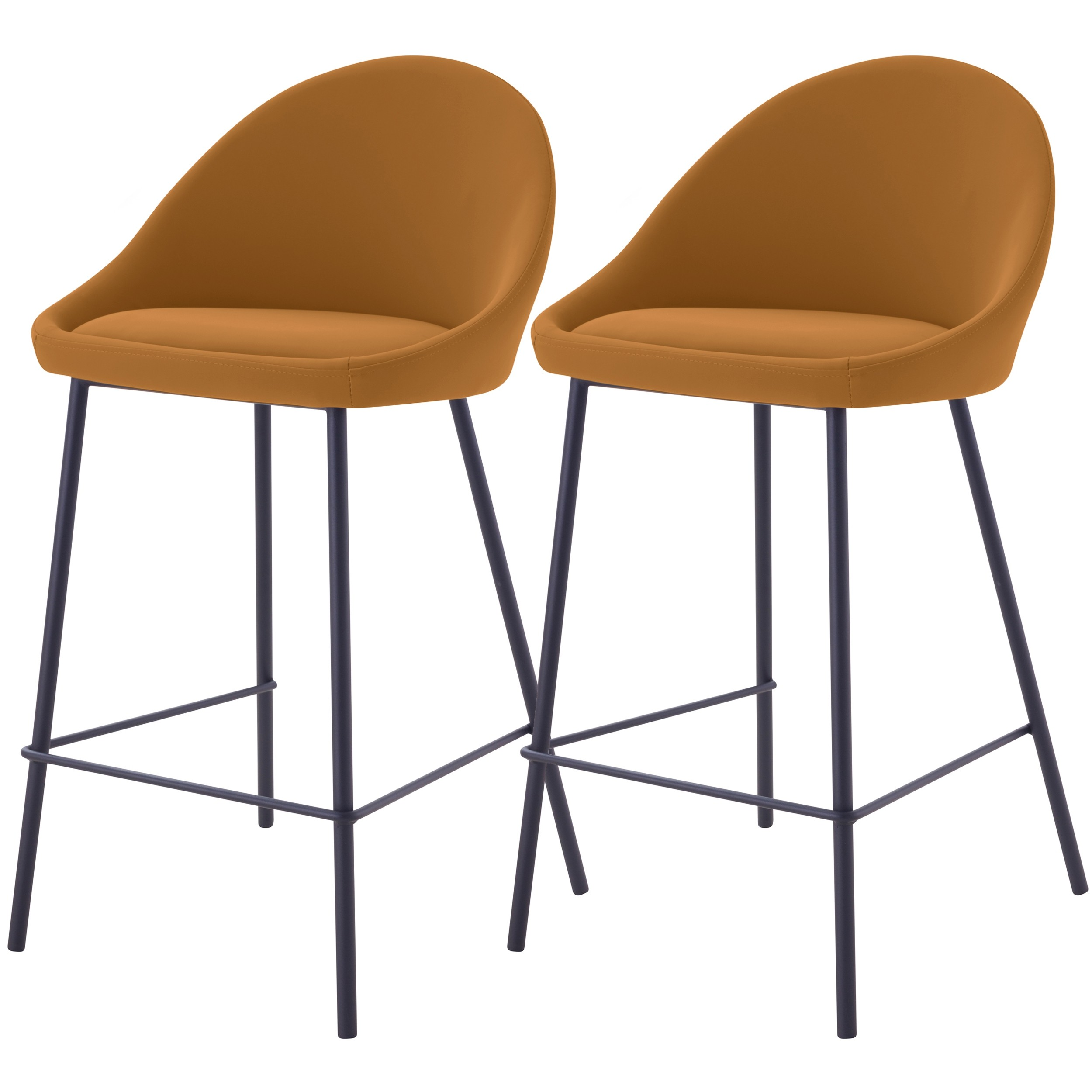 acheter chaise de bar ocres lot de 2
