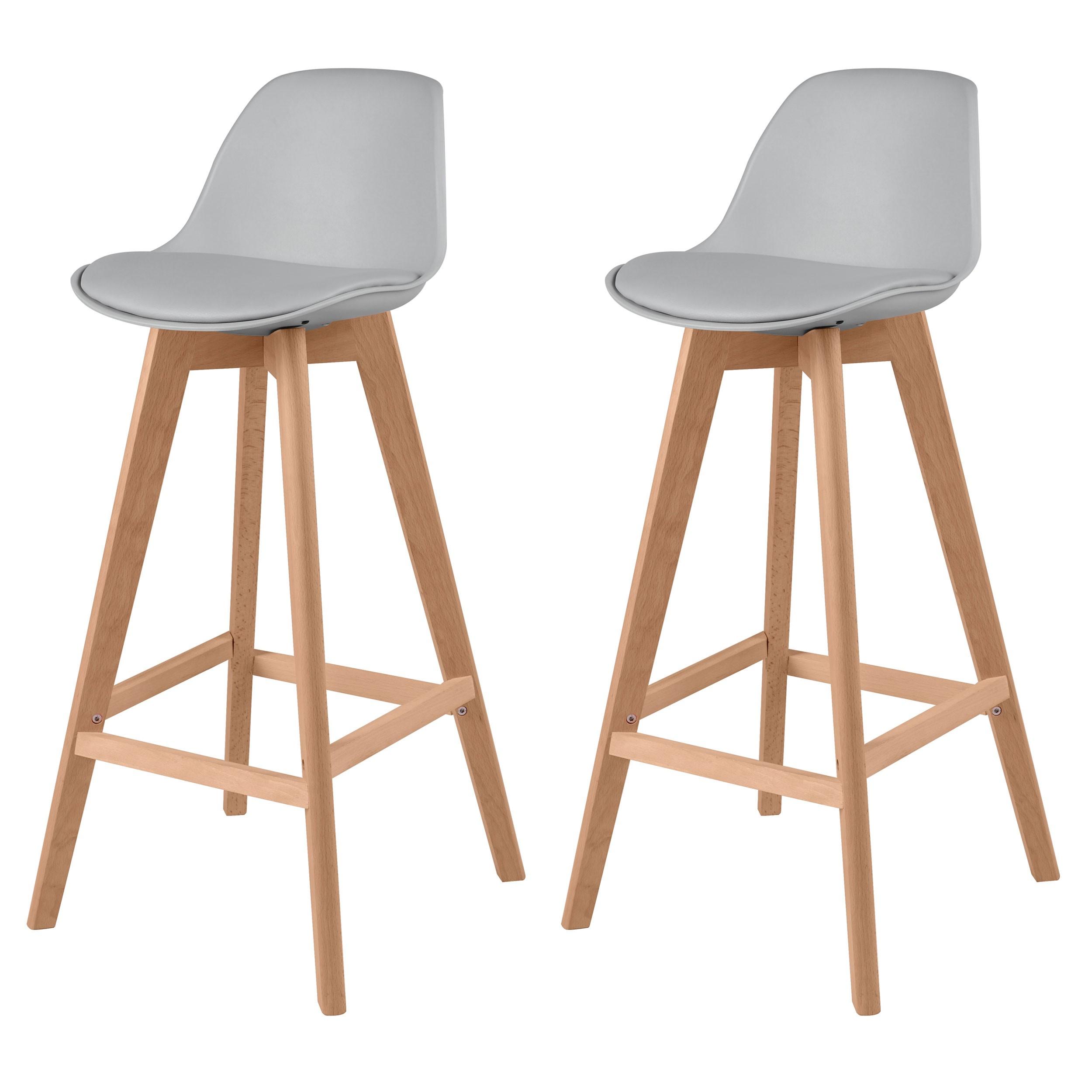 chaise de bar scandinave grise