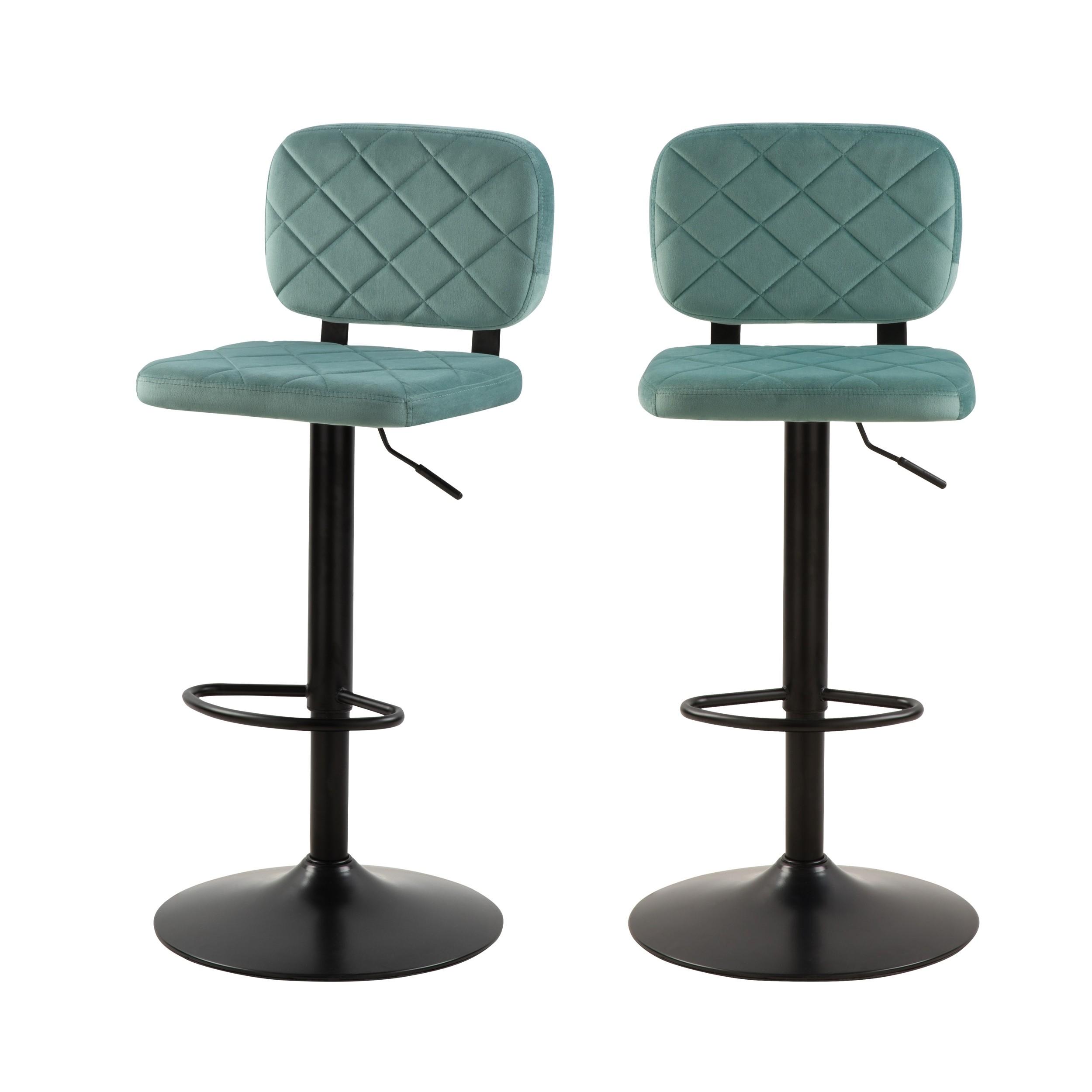 acheter chaise de bar velours vert d eau