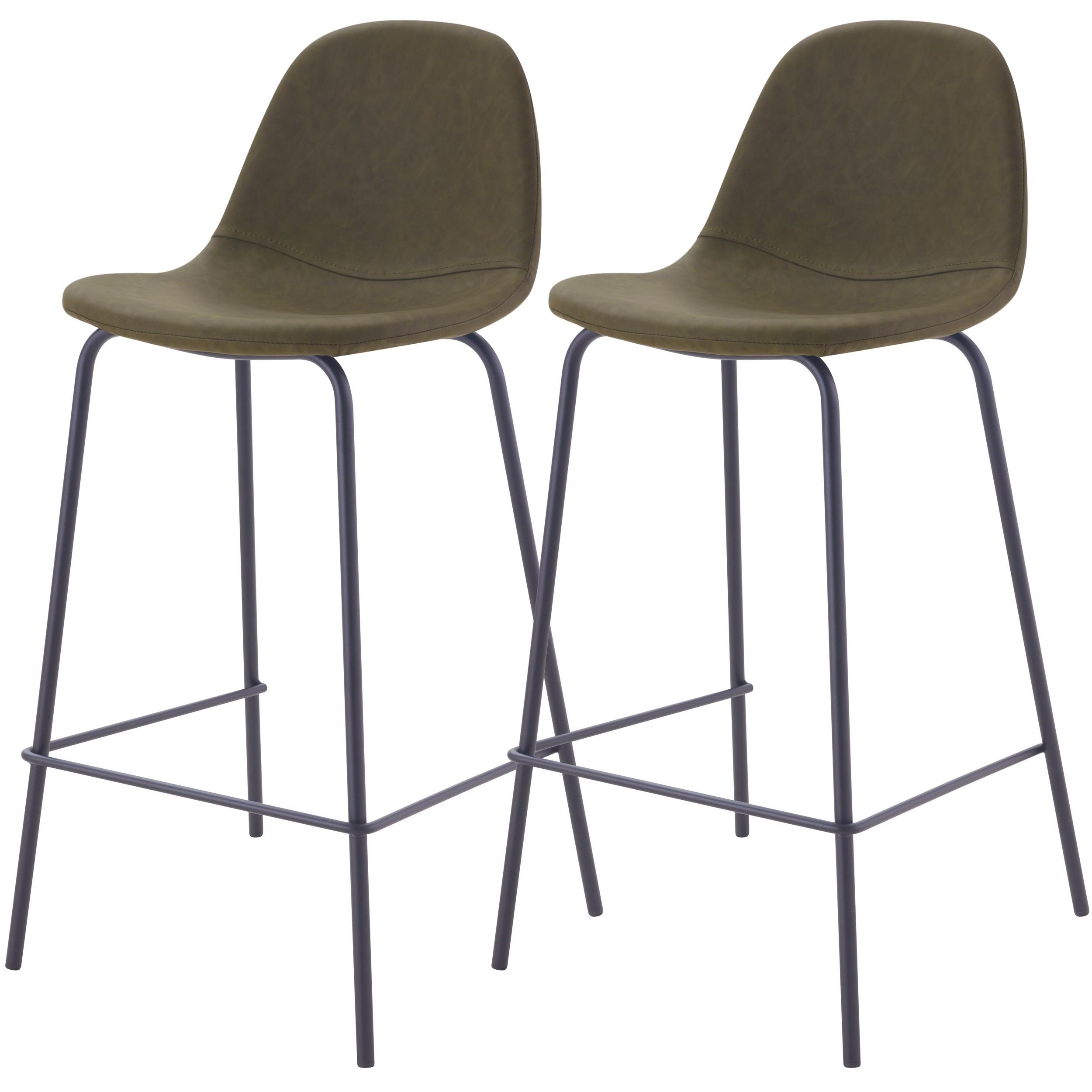 acheter chaise de bar vert kaki en cuir synhetique