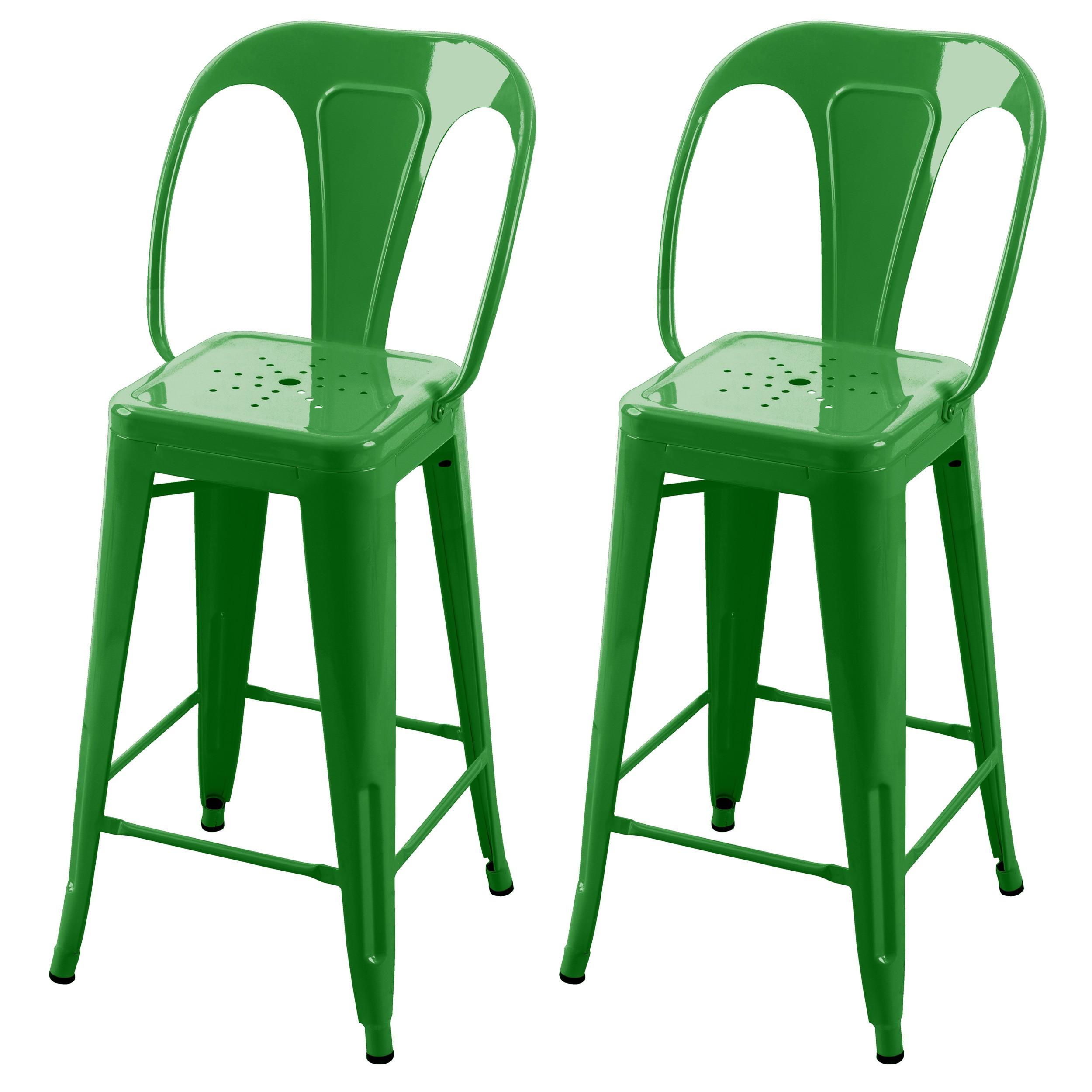 acheter chaise de bar verte metal