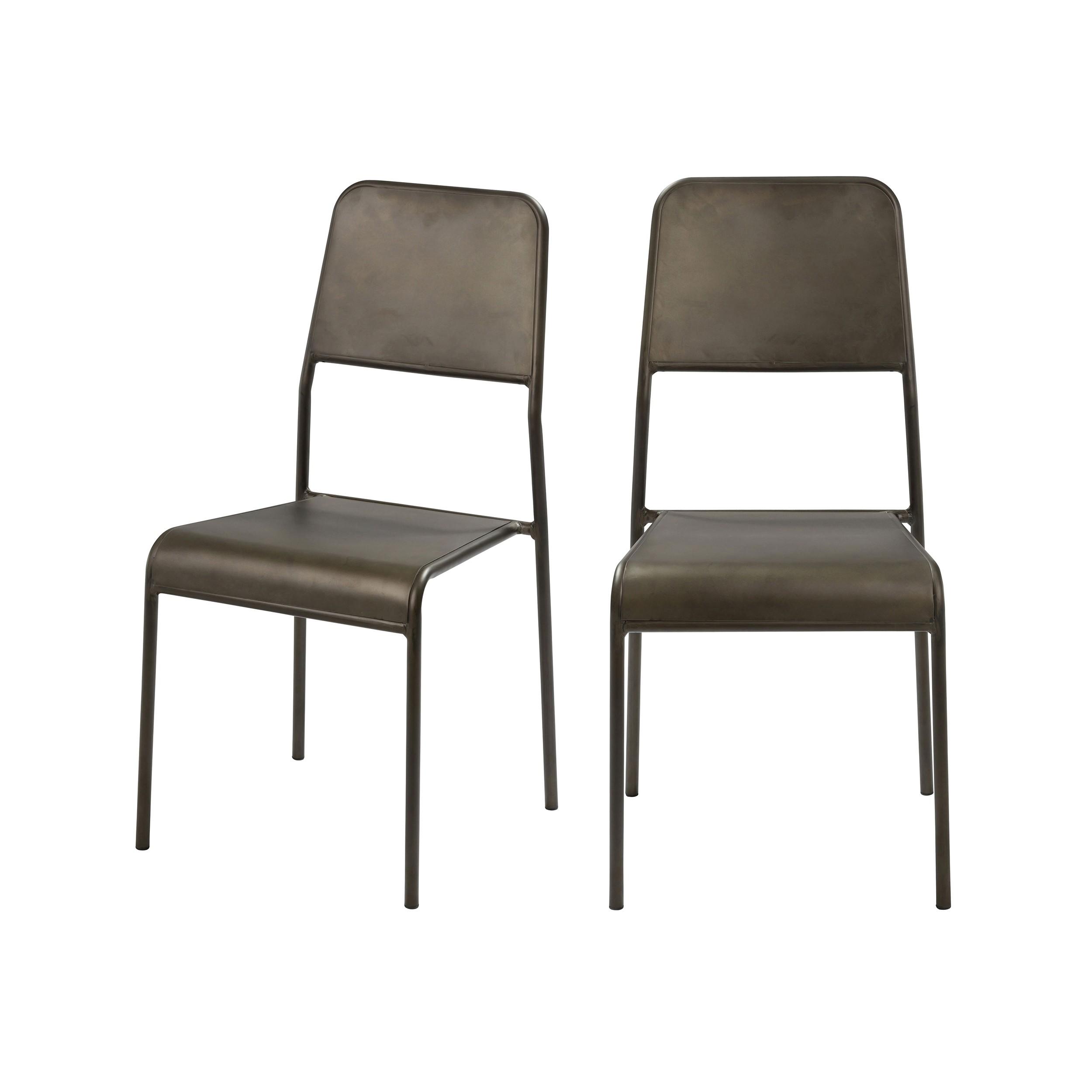 acheter chaise de jardin grises lot de 2
