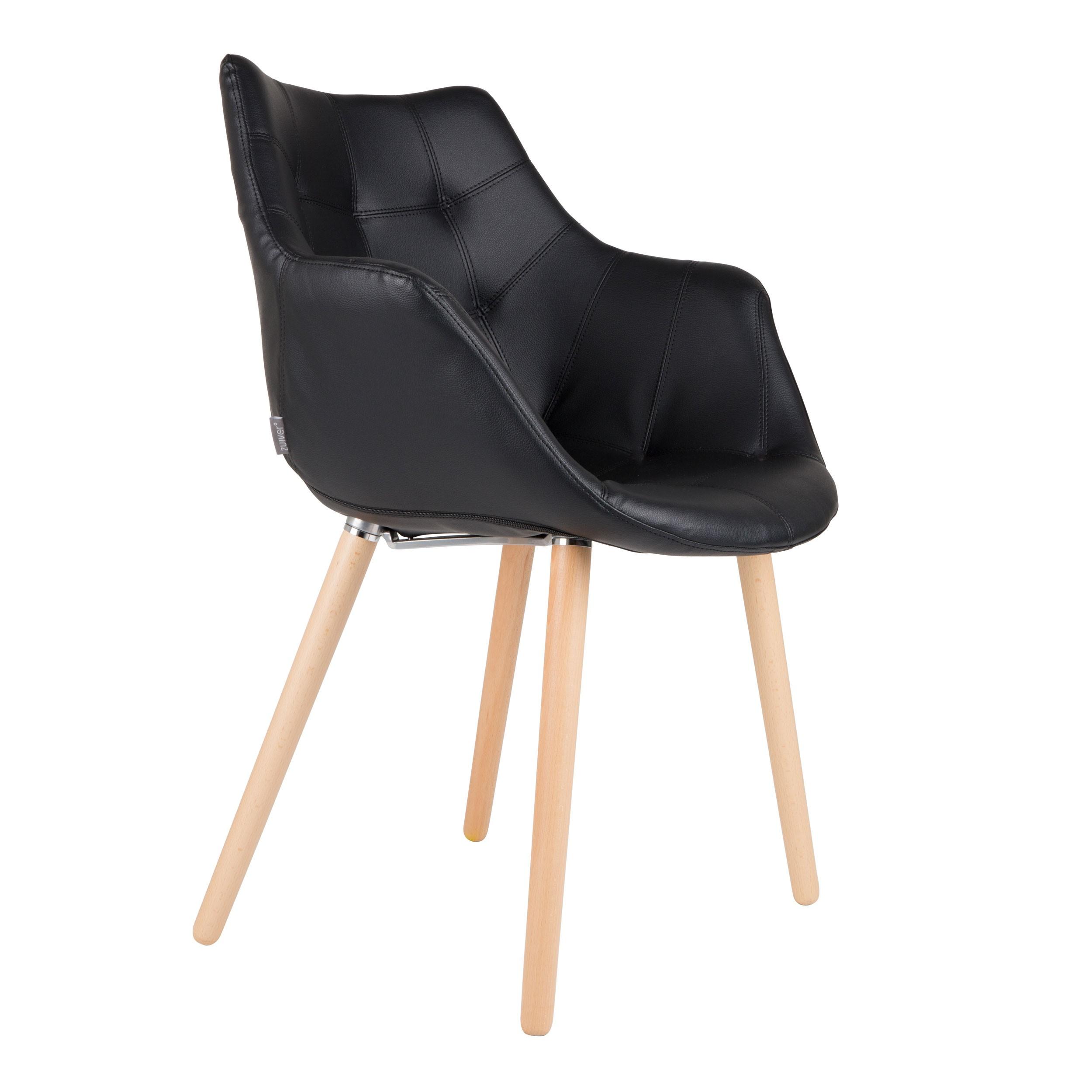 chaise anders noire zuiver optez pour nos chaises en simili cuir noir design rdvd co. Black Bedroom Furniture Sets. Home Design Ideas