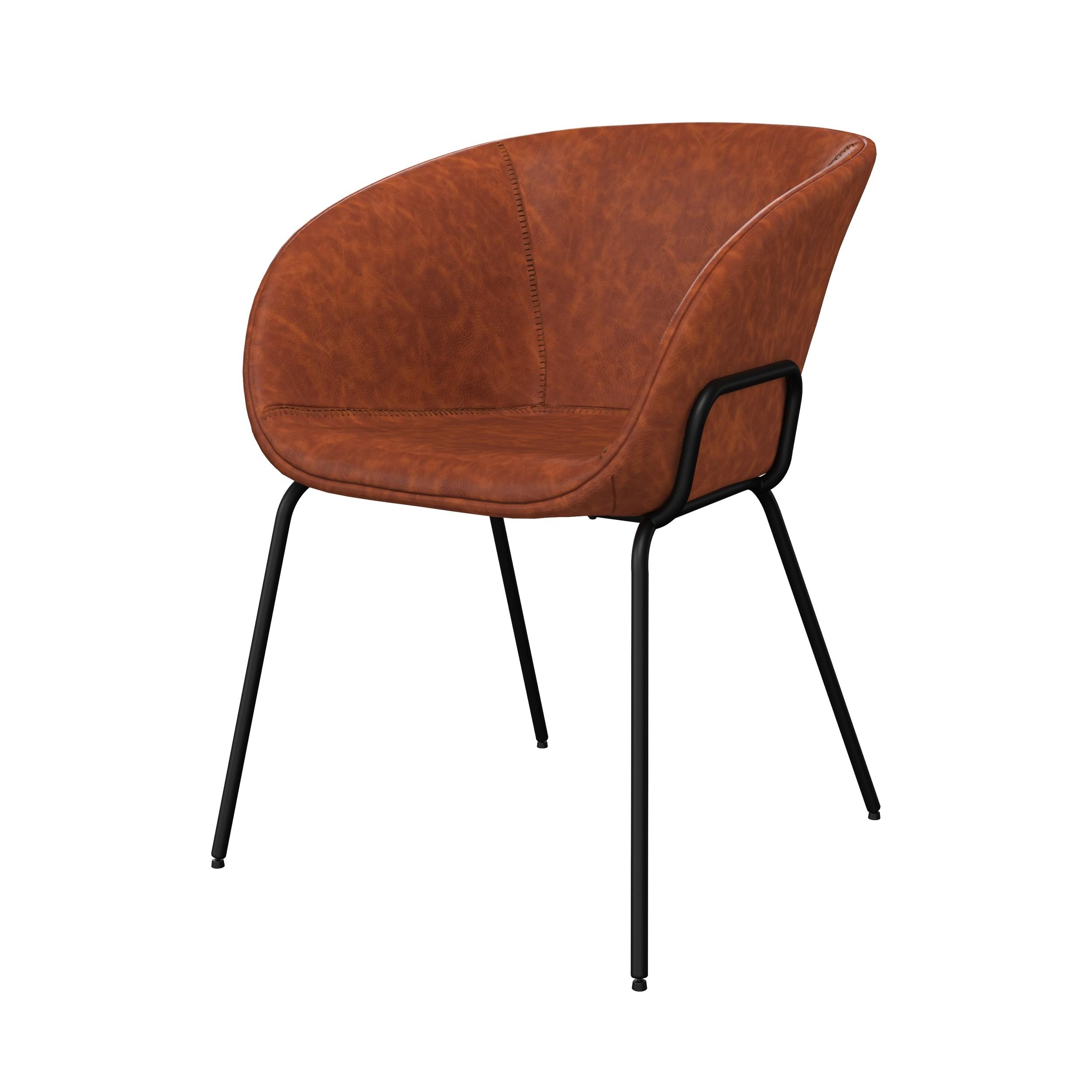 acheter chaise en cuir synthetique marron