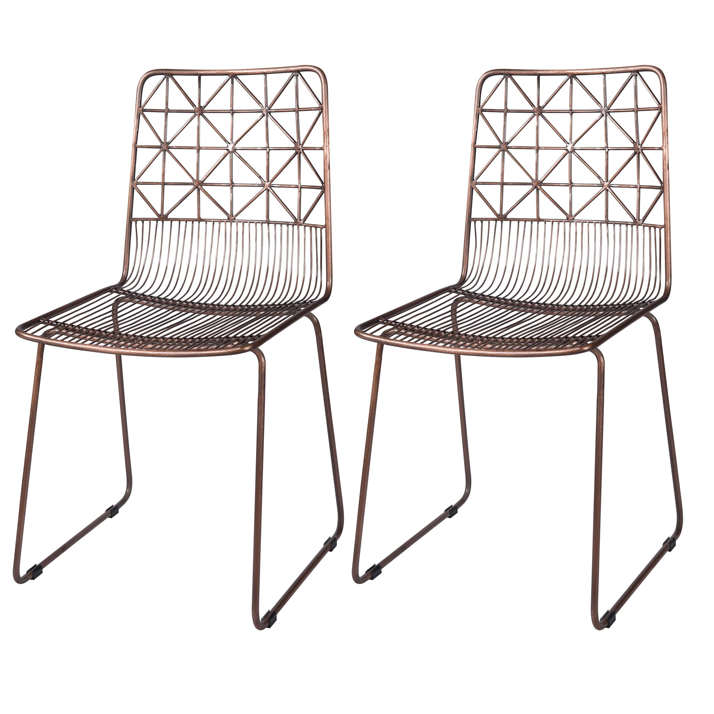 acheter chaise en metal lot de 2