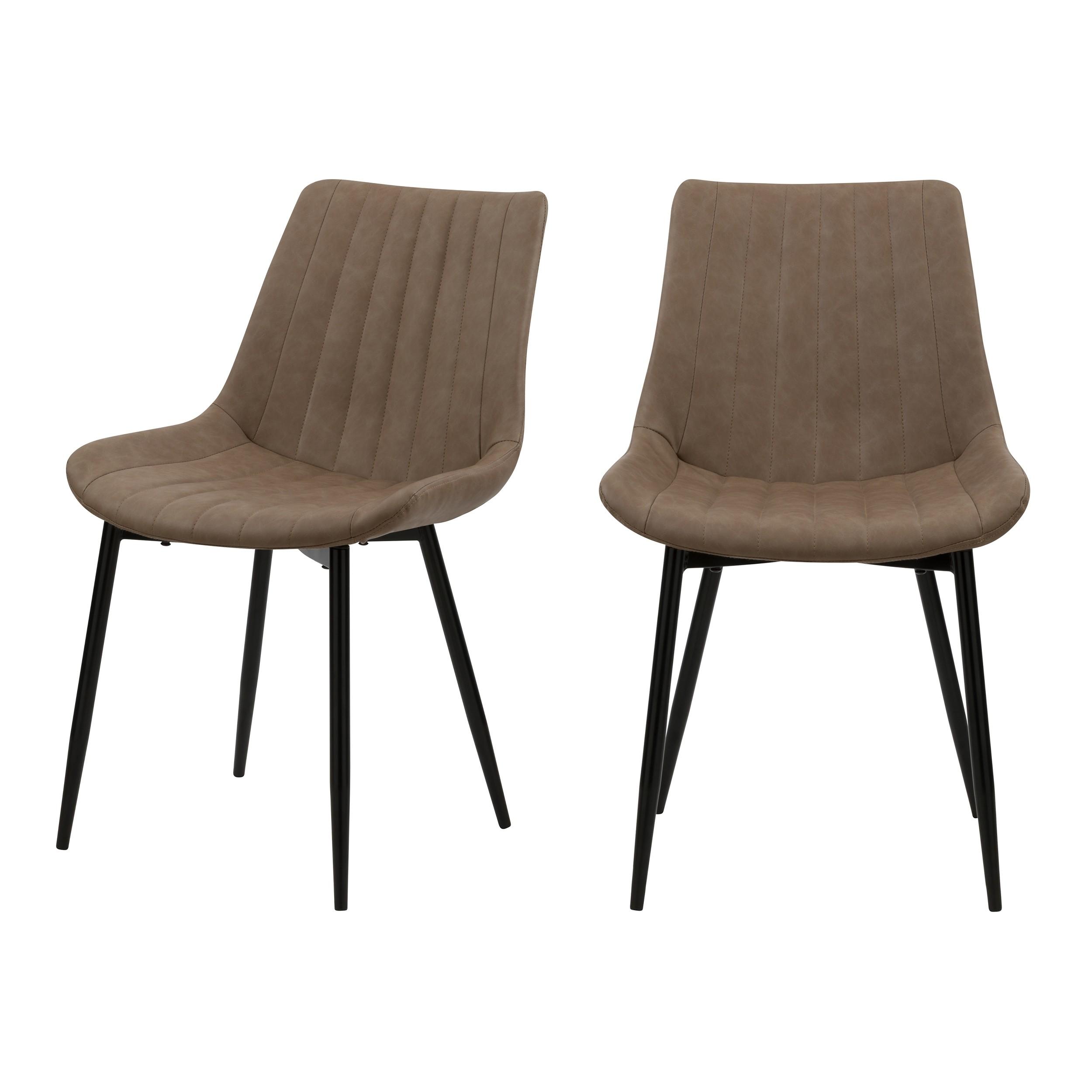 acheter chaise en simili taupe