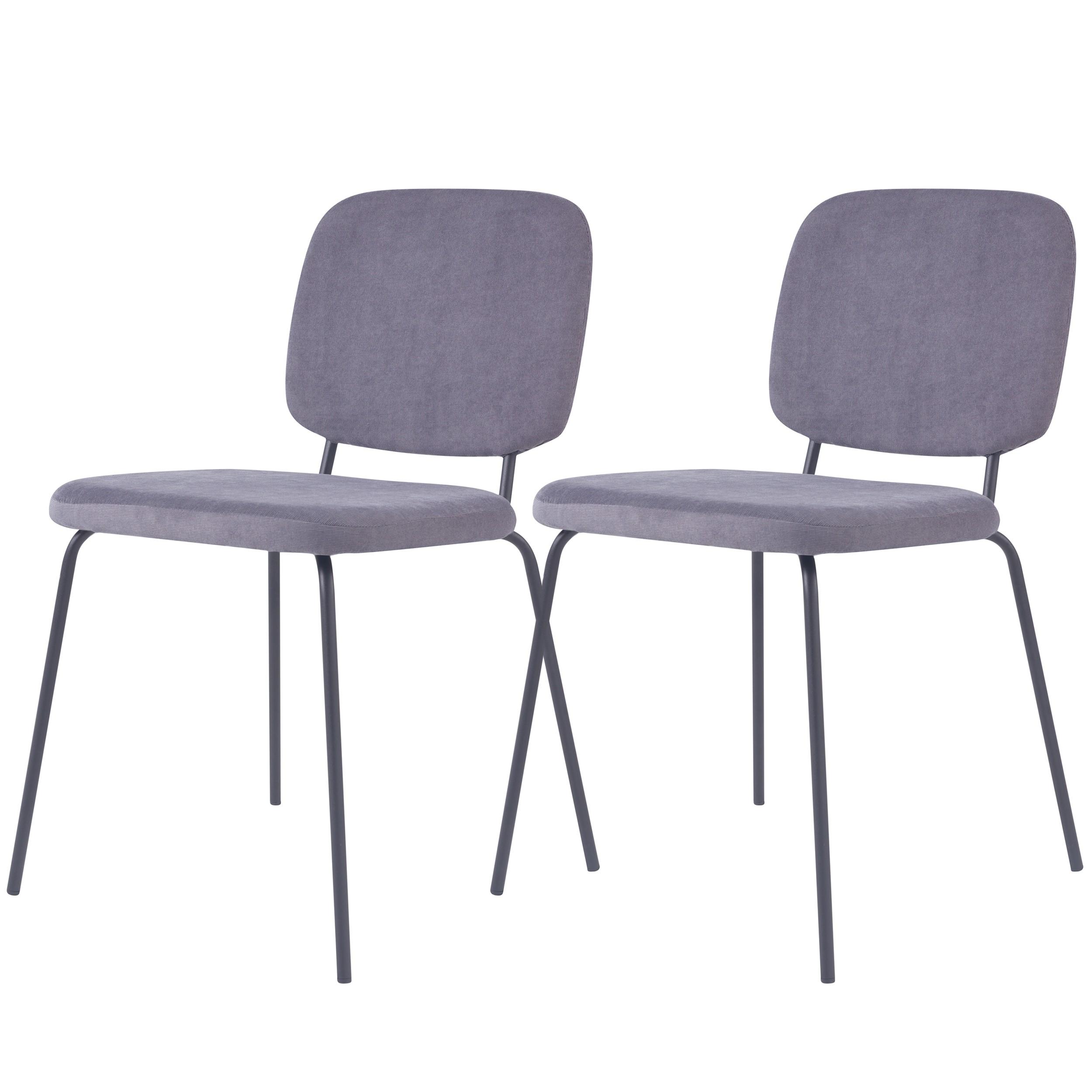 acheter chaise en velours cotele grise
