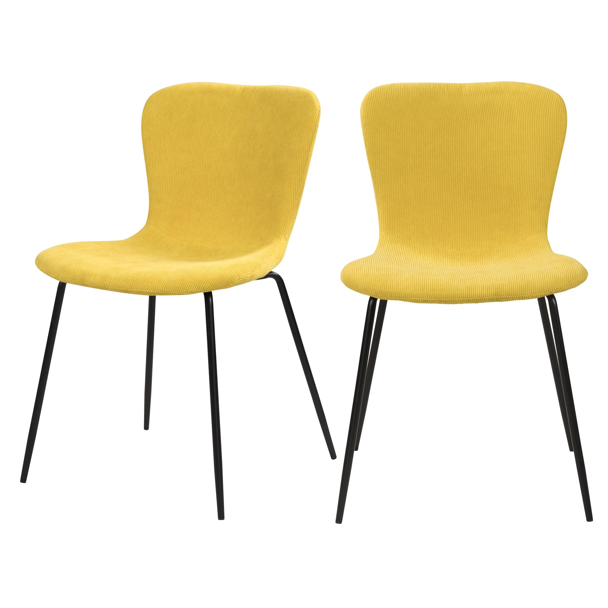 acheter chaise en velours jaune