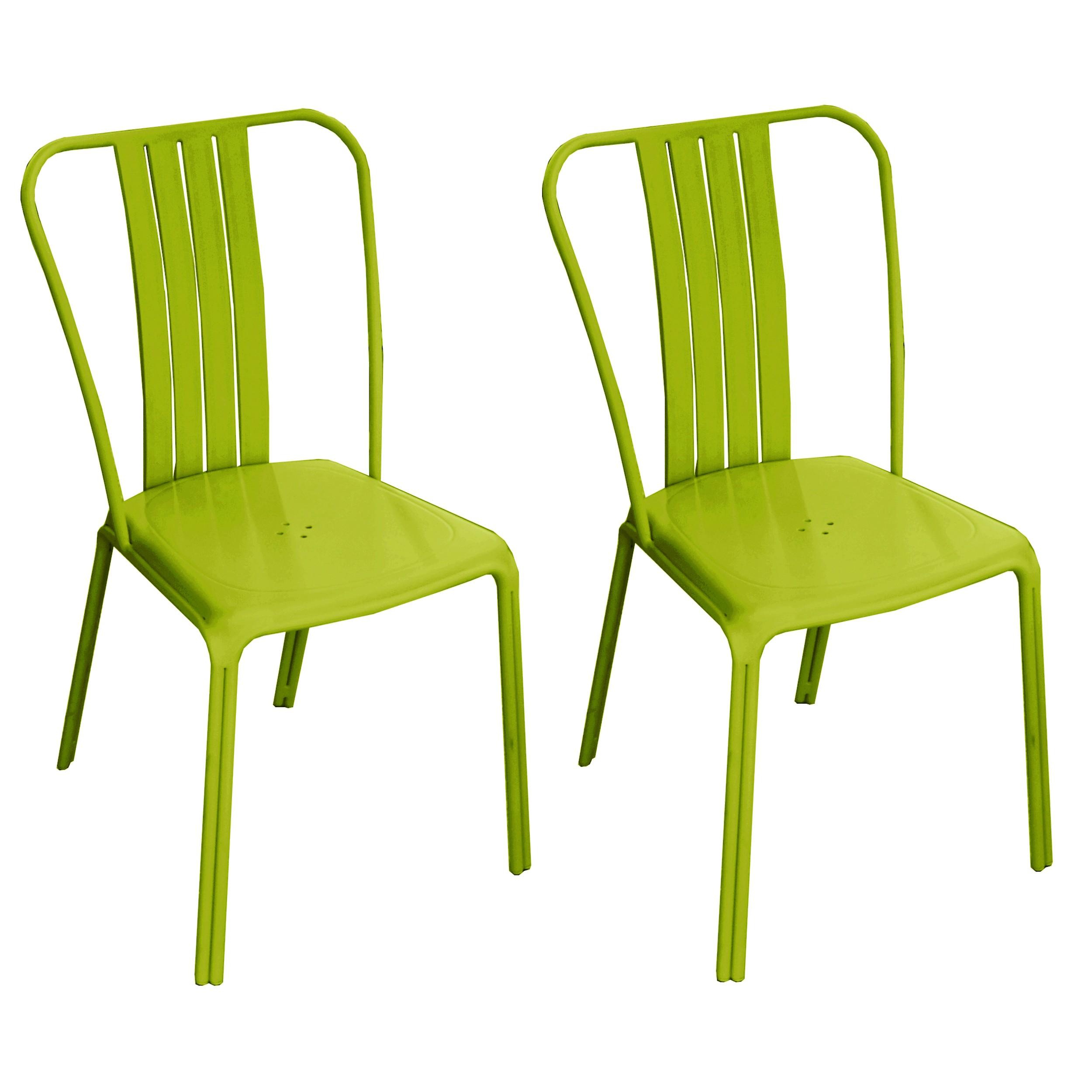 chaise de jardin azuro verte lot de 2 choisissez nos chaises de jardin azuro vertes design. Black Bedroom Furniture Sets. Home Design Ideas