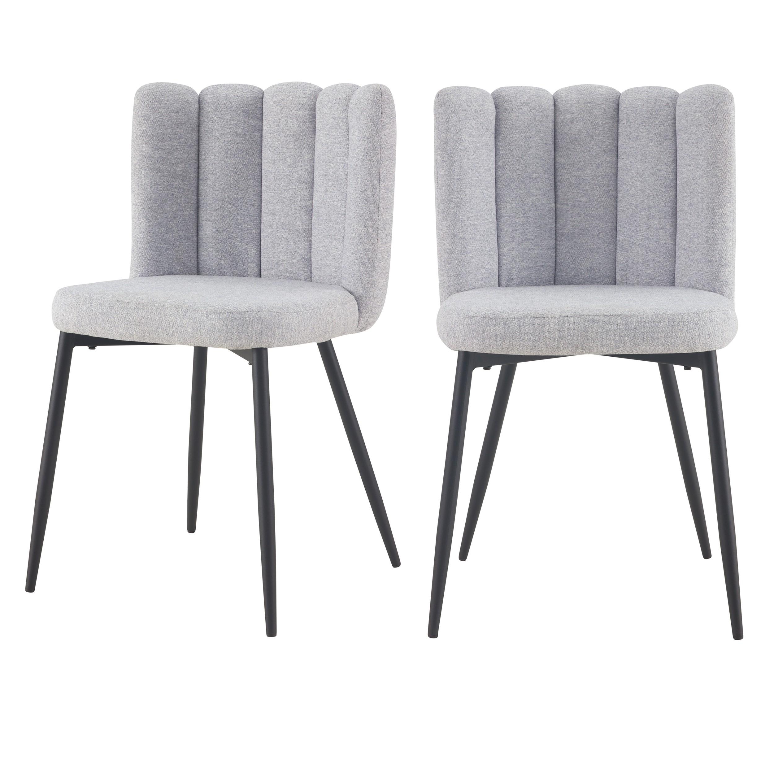 acheter chaise grise en tissu chine