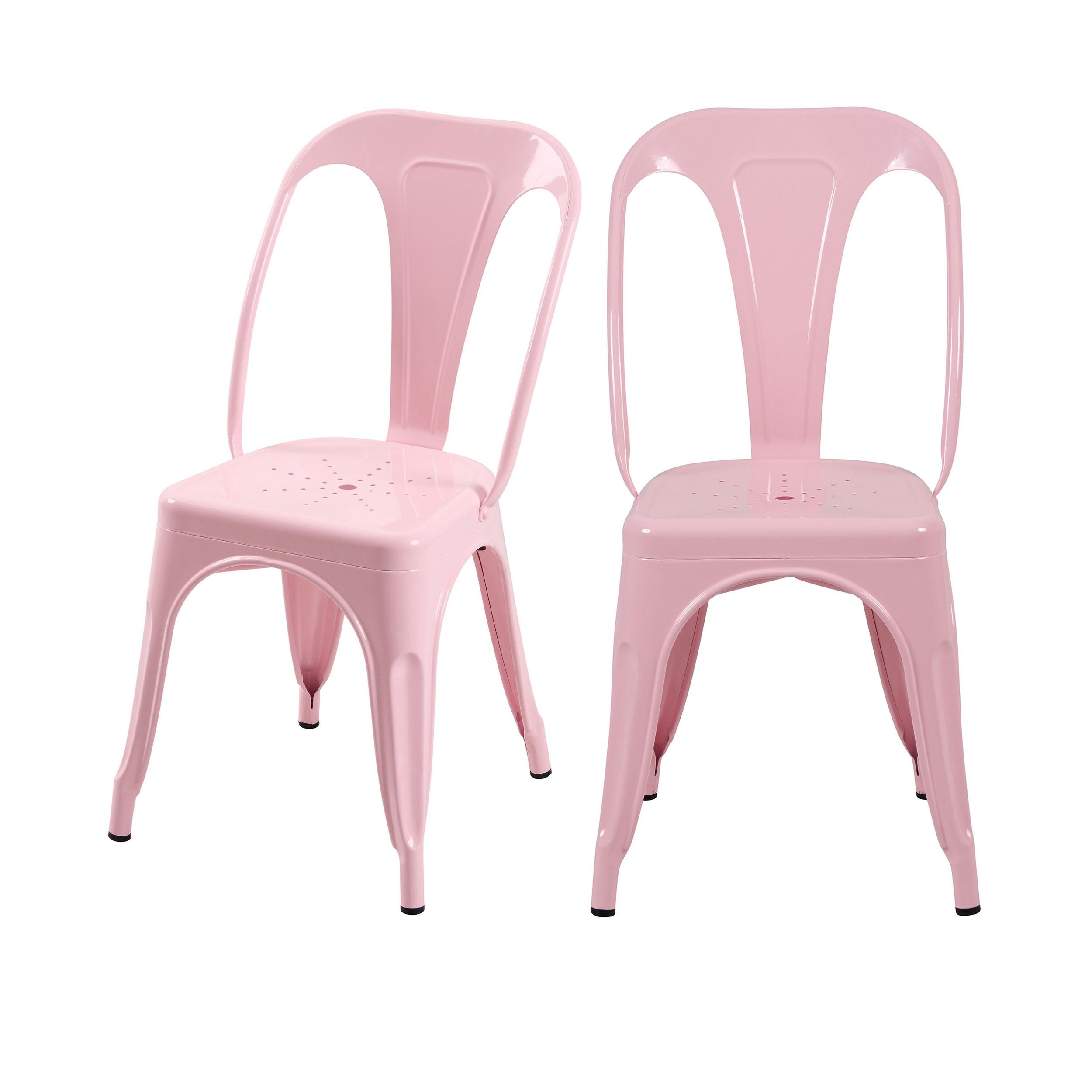 acheter chaise indus rose lot de 2