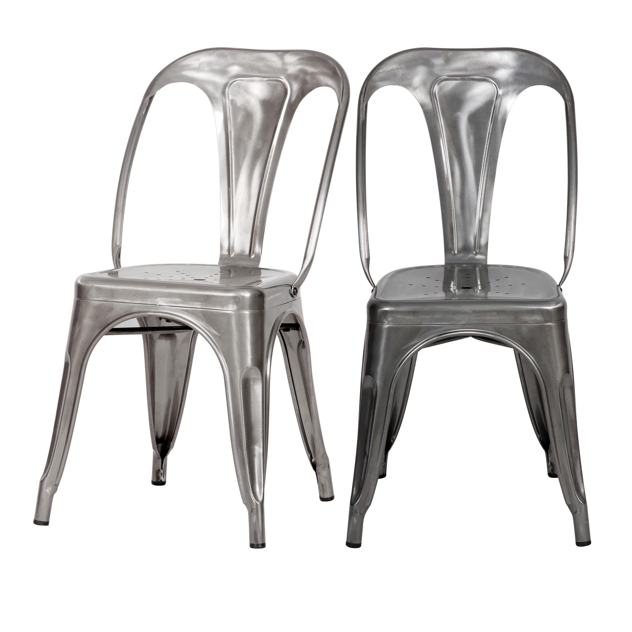 achat chaise indus chrome