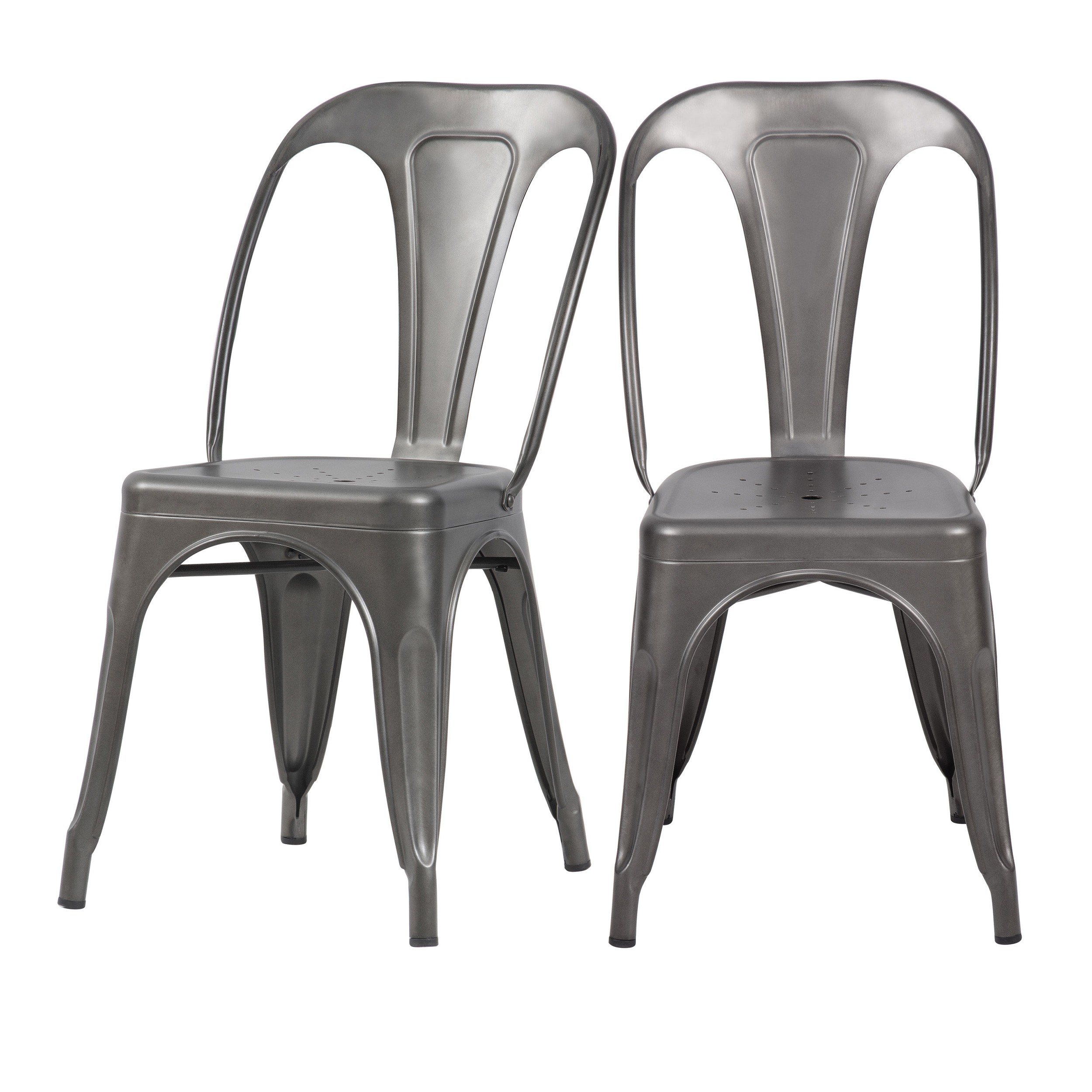 Chaise Indus gris acier (lot de 5)