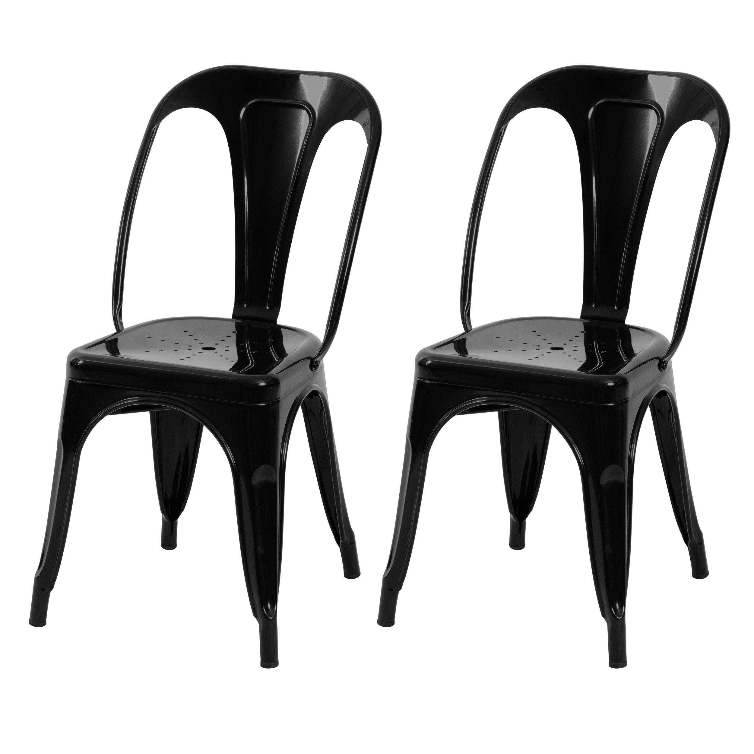 achat chaise indus noire