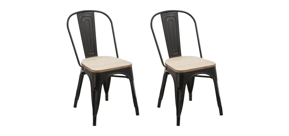 chaise kisa noire lot de 2 achetez nos chaises kisa noires lot de 2 rdv d co. Black Bedroom Furniture Sets. Home Design Ideas