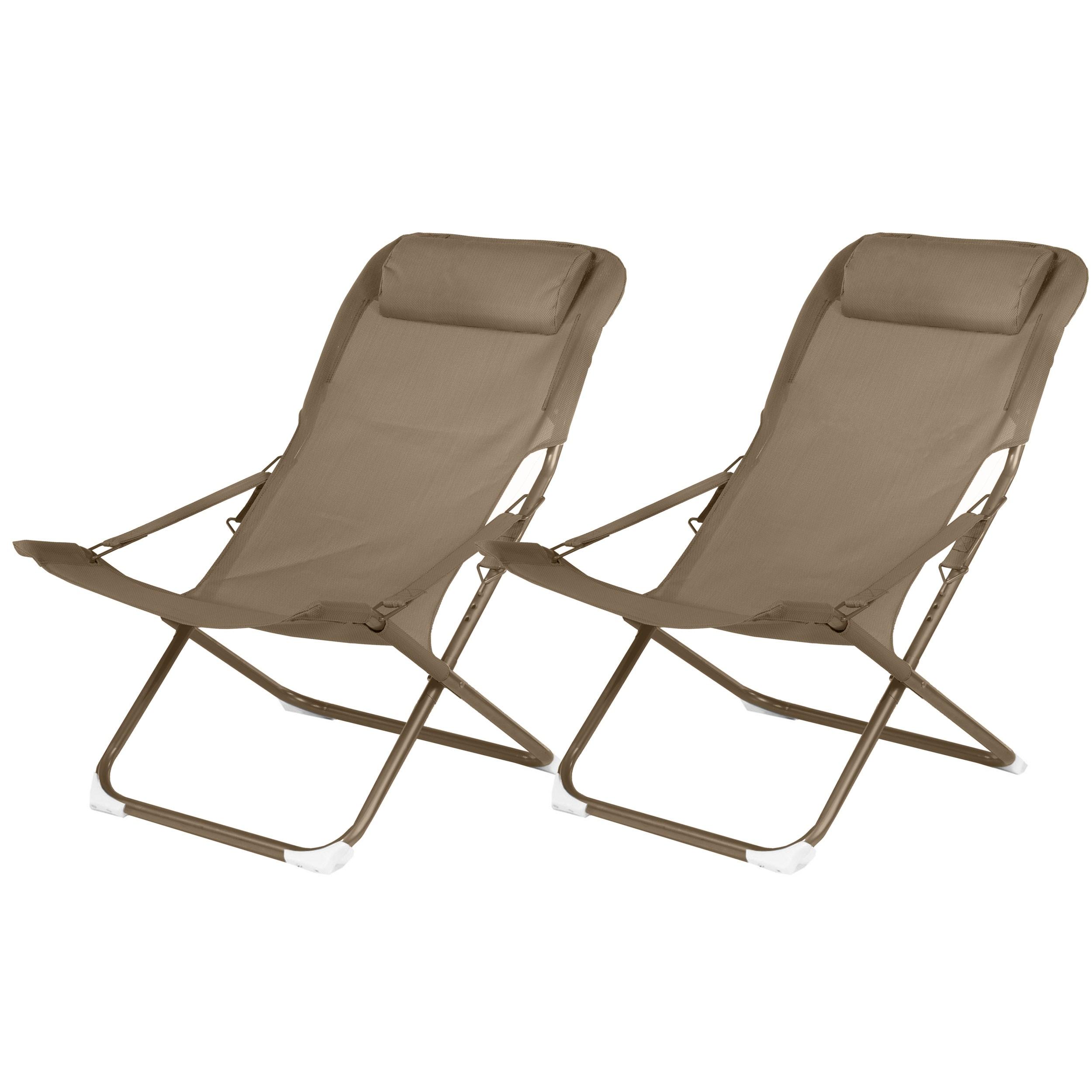 La Chaise Longue Billard chaise longue talanga café (lot de 2)