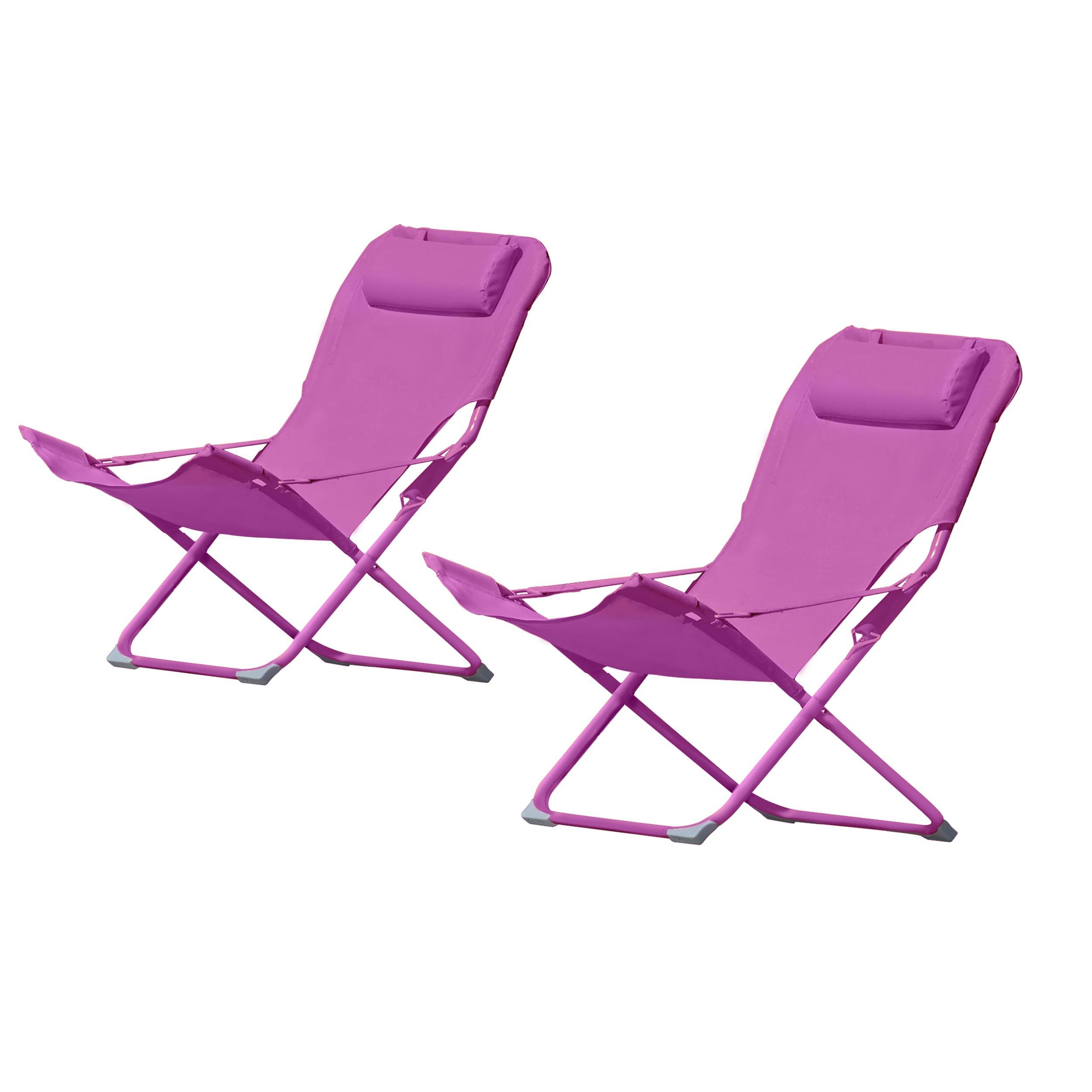 acheter chaise longue rose confortable